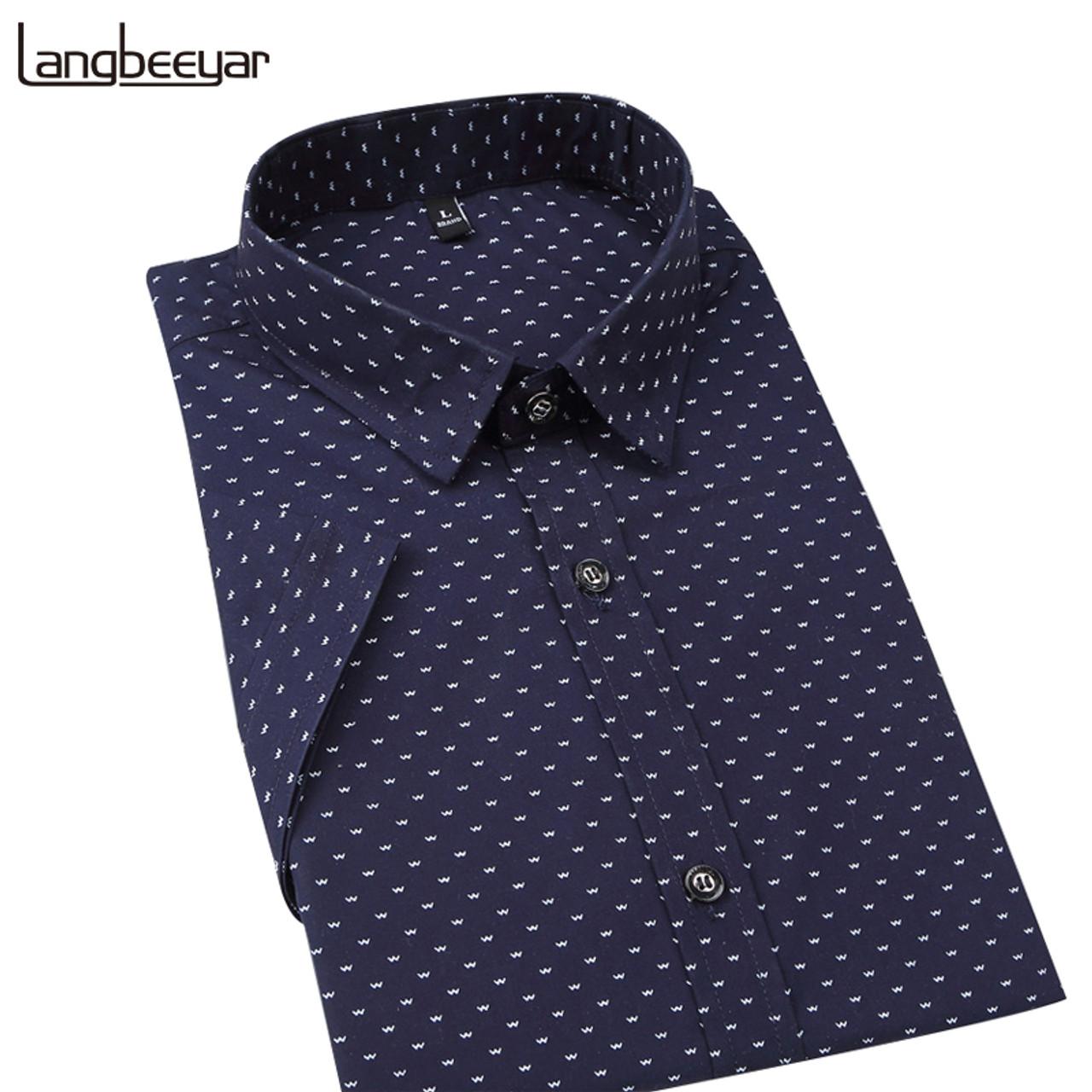 52d32721665 ... Hot 2018 Summer New Fashion Brand Clothing Men Short Sleeve Shirt Polka  Dot Slim Fit Shirt