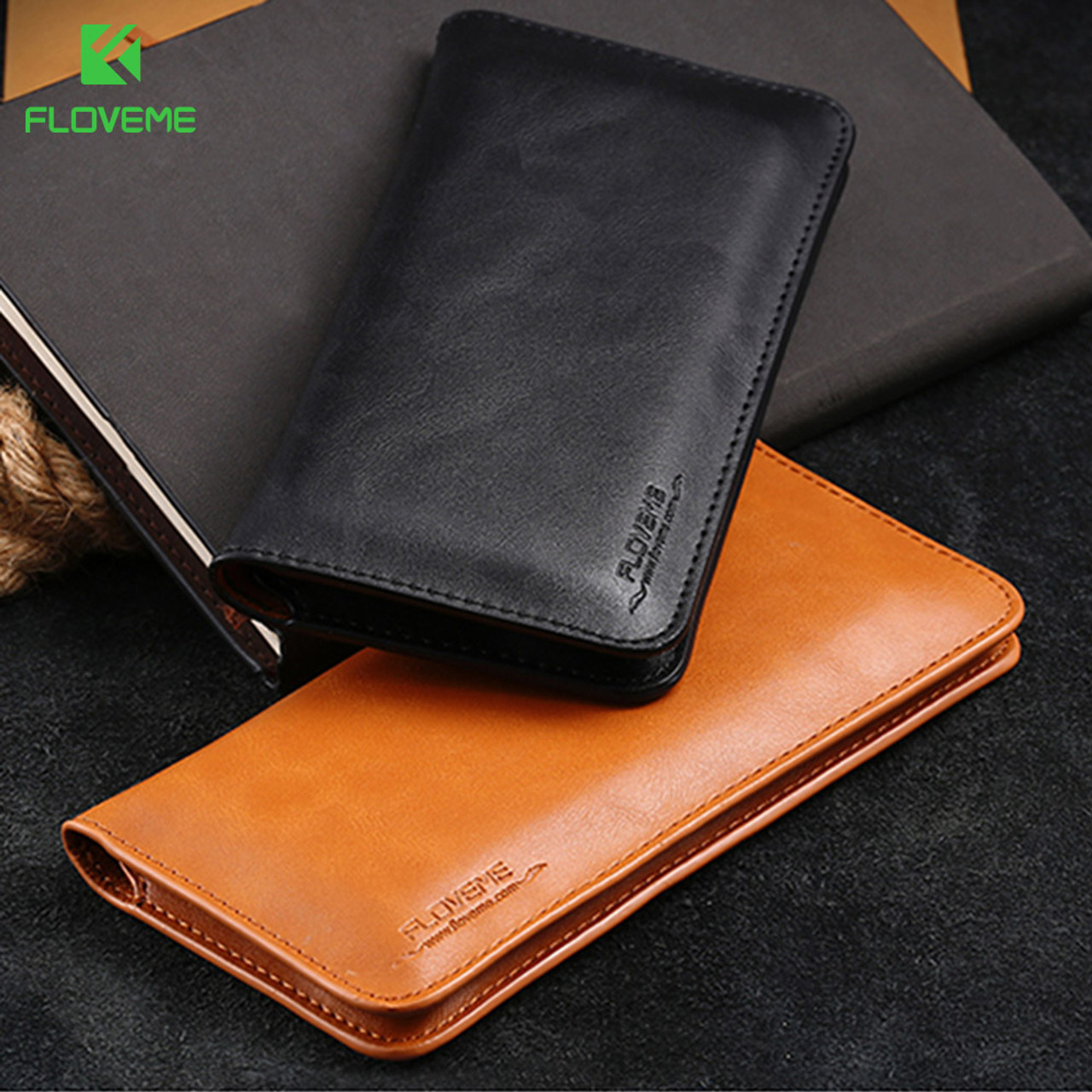 info for 016f0 cf489 FLOVEME Leather Wallet Case For Samsung Galaxy Note 8 S8 S8 Plus S7 S6 Edge  5.5 Inch Cases For iPhone X 8 7 6 6S Plus Phone Bags