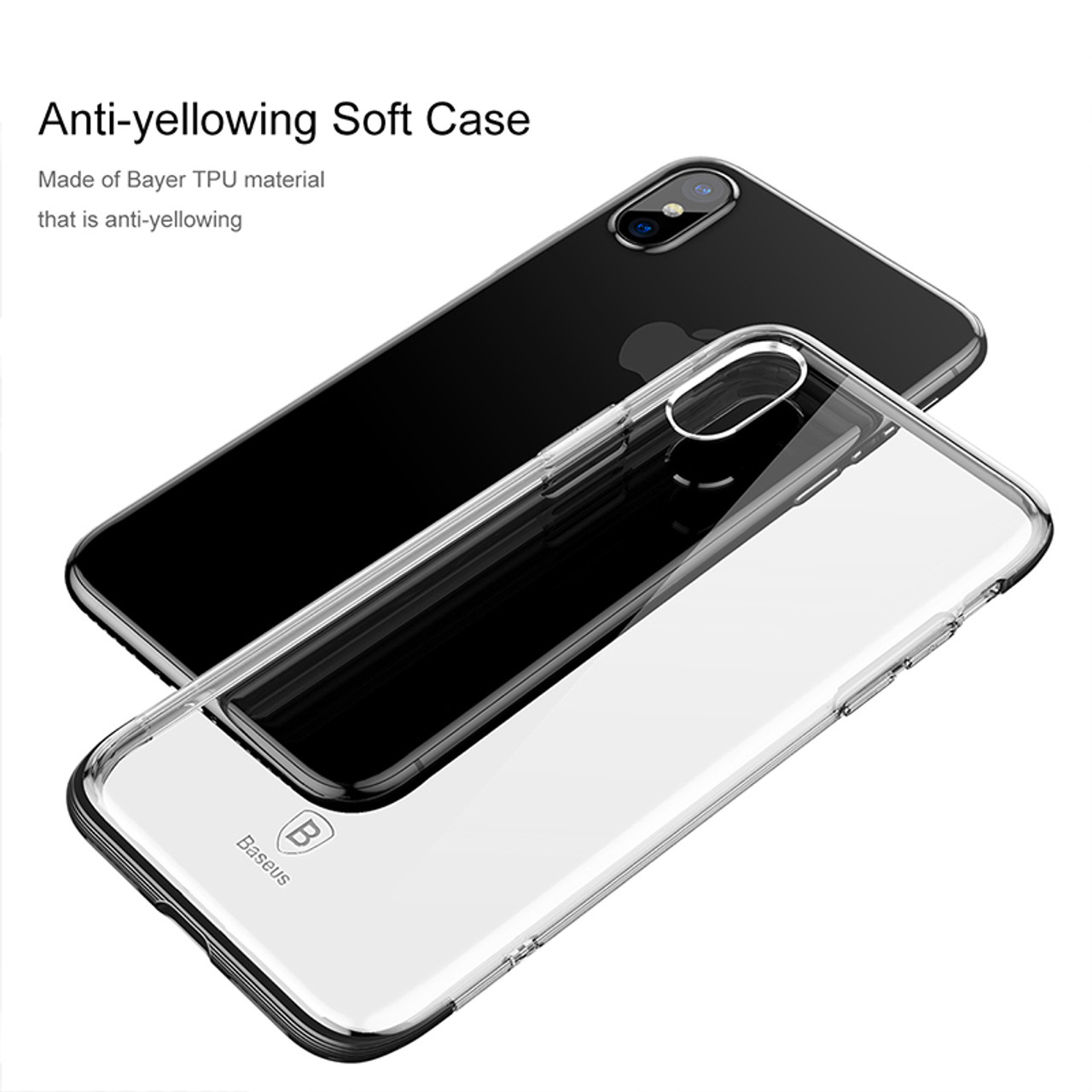 brand new af572 ca5ce Case For iphone X Case Baseus Luxury Soft TPU Silicone Phone Cases For  iphone X Cover color Luxury Carbon Fiber For iphoneX Case