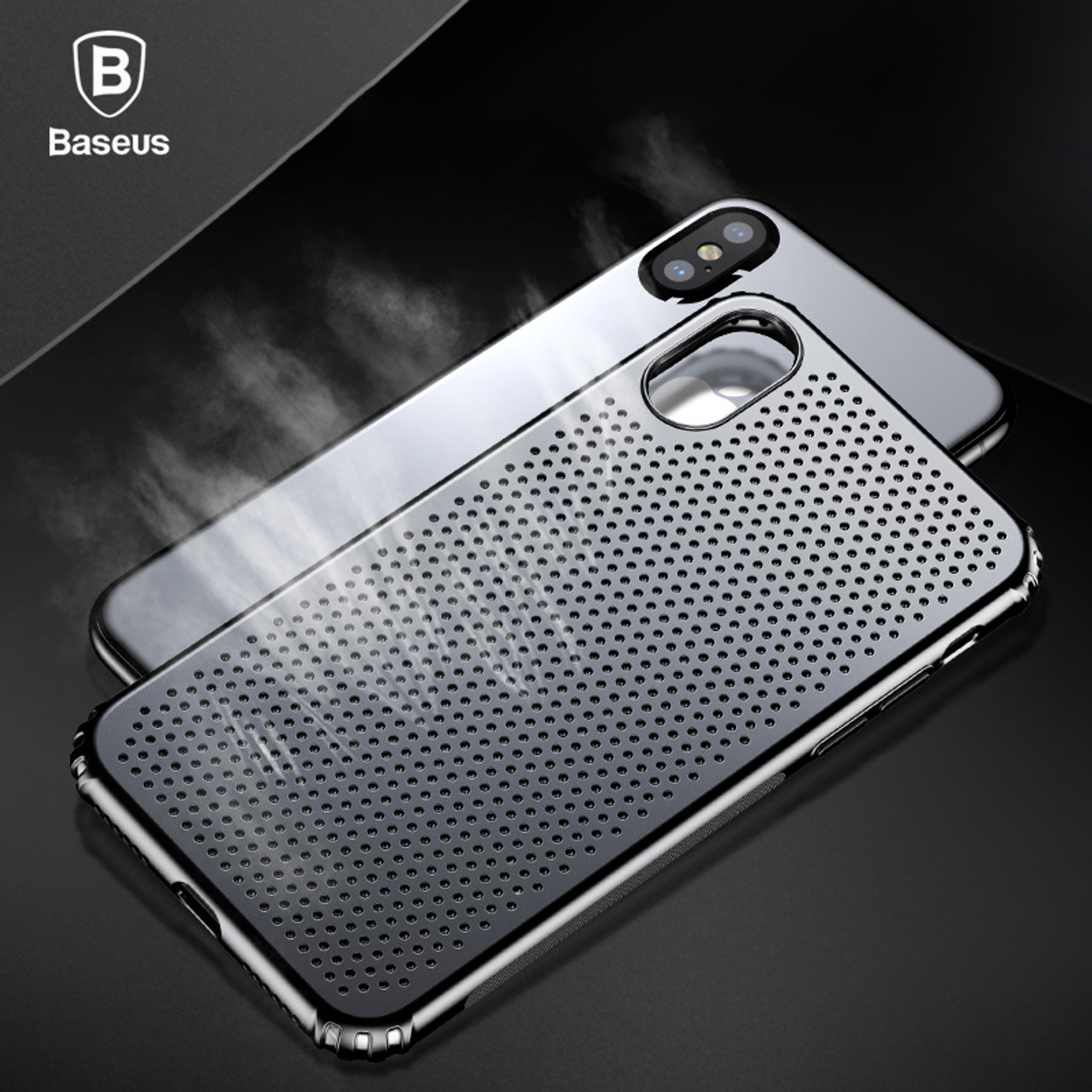 newest eb60d c8ed6 Baseus Creative Hollow Case For iPhone X Luxury Smooth Hard Plastic Case  For iPhone X Cases Anti Knock Phone Cover