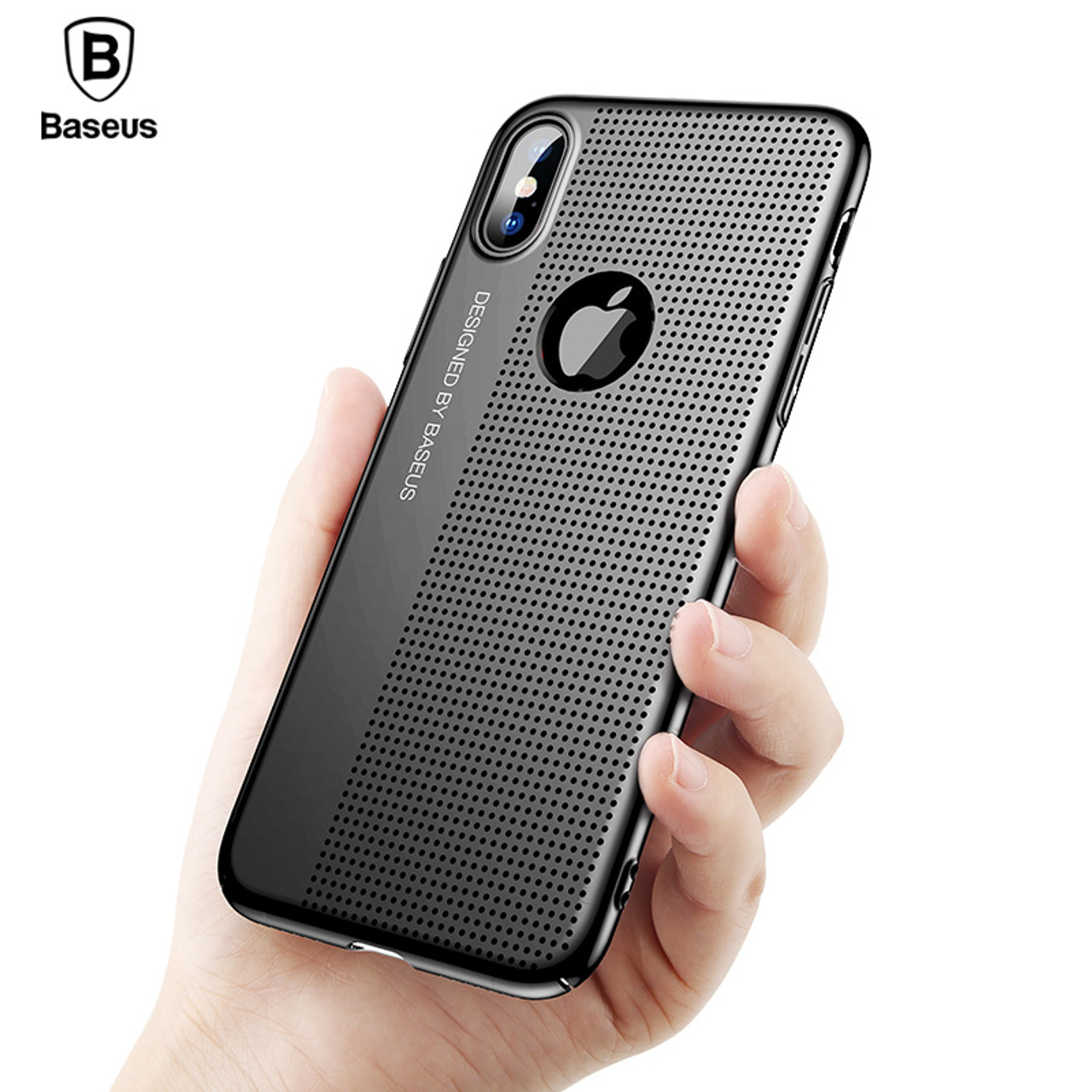 info for 88ca5 84b1e For iPhone X Case Baseus Luxury Plating Hard Plastic Phone Cases For  iPhoneX Ultra Thin Hollow PC Phone Cover For Apple iPhone X
