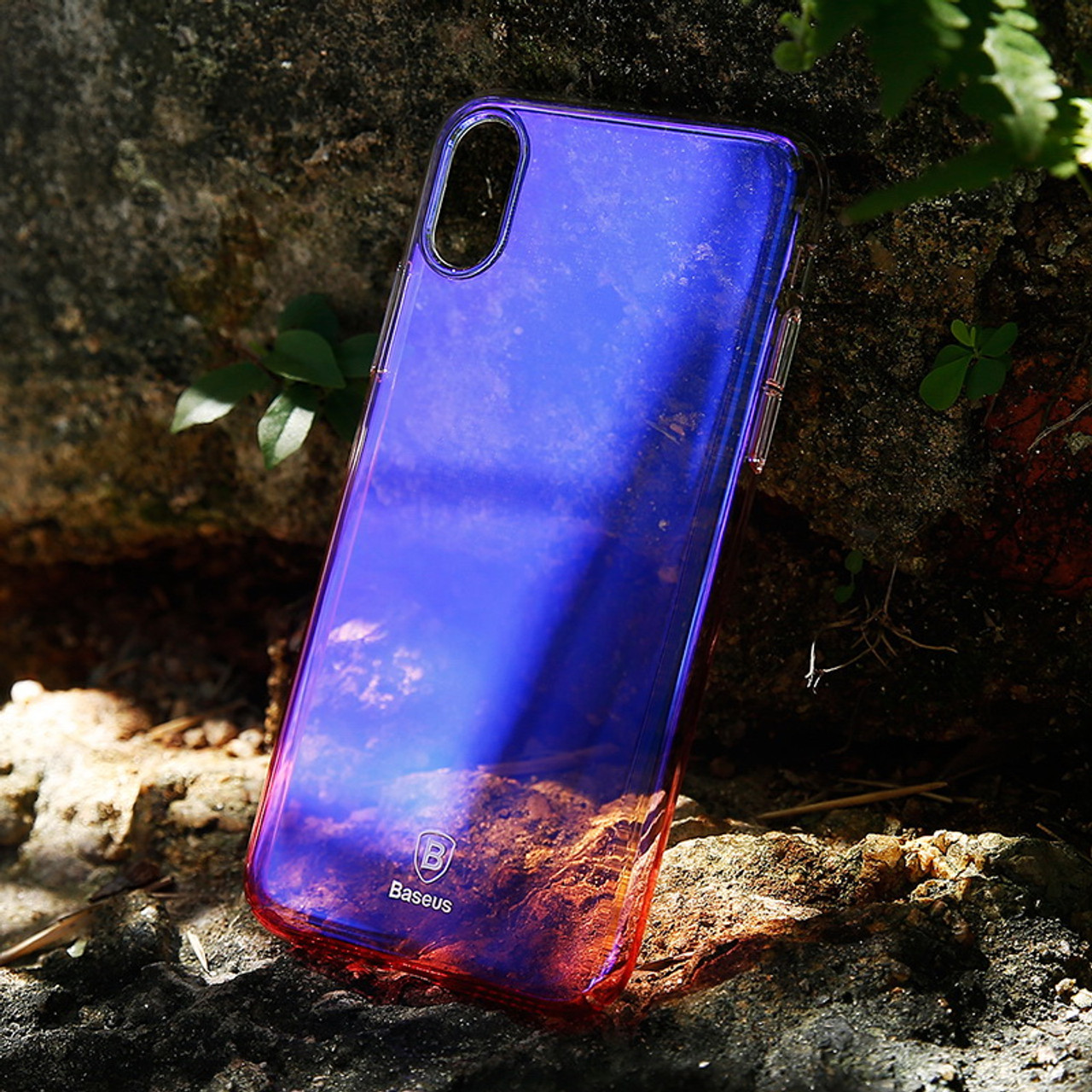8a75472e46 ... Baseus Phone Case For iPhone X Gradient Color Ultra Slim Coque PC Hard  Back Cover Case ...