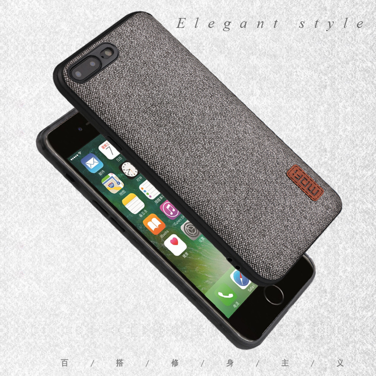 more photos f6d4b 47633 MOFi case for iphone8 iphone 8 plus case cover silicone edge shockproof  business men back cover 8P 7 plus case for iphone 7 case