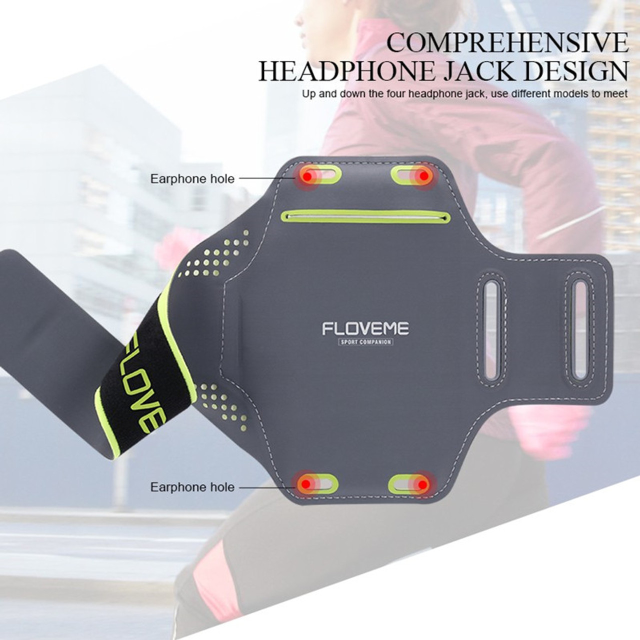 Armbands Efficient Sport Armband Running Flip Bag Case For 5 Inch Iphone Samsung Universal Smartphone Phone Earphone Holes Keys Arm Bags Pouch Outstanding Features Mobile Phone Accessories