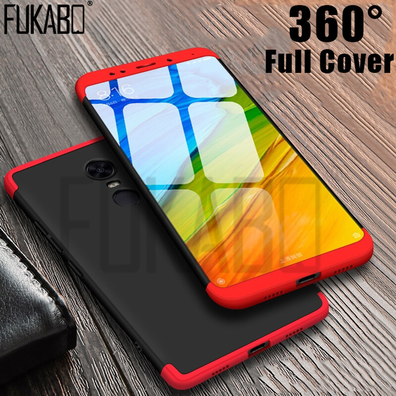 fca462e2168 360 degrees Full Cover Case For Xiaomi Redmi Note 4X Note 4 Global version hard  Back ...