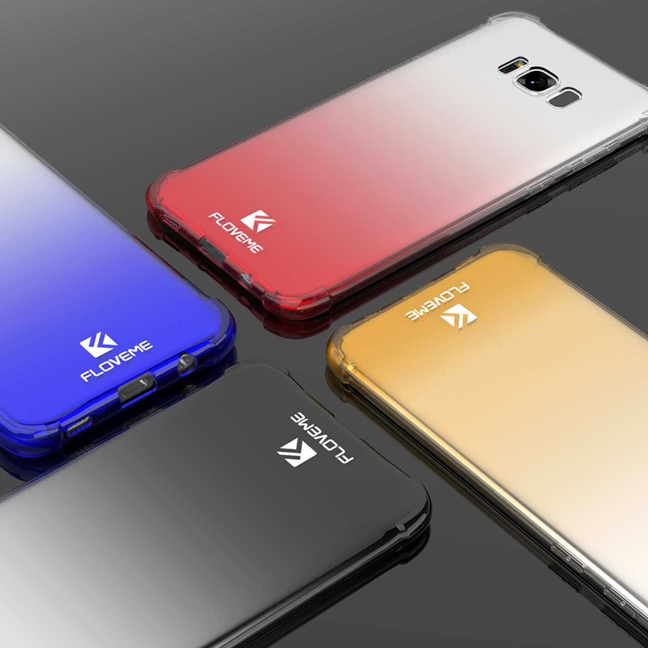 pretty nice c2319 1364f FLOVEME Shockproof Airbag Case For Samsung Galaxy S8 Luxury Gradient 360  Cases For Samsung S8 S8 Plus Phone Accessories Cover