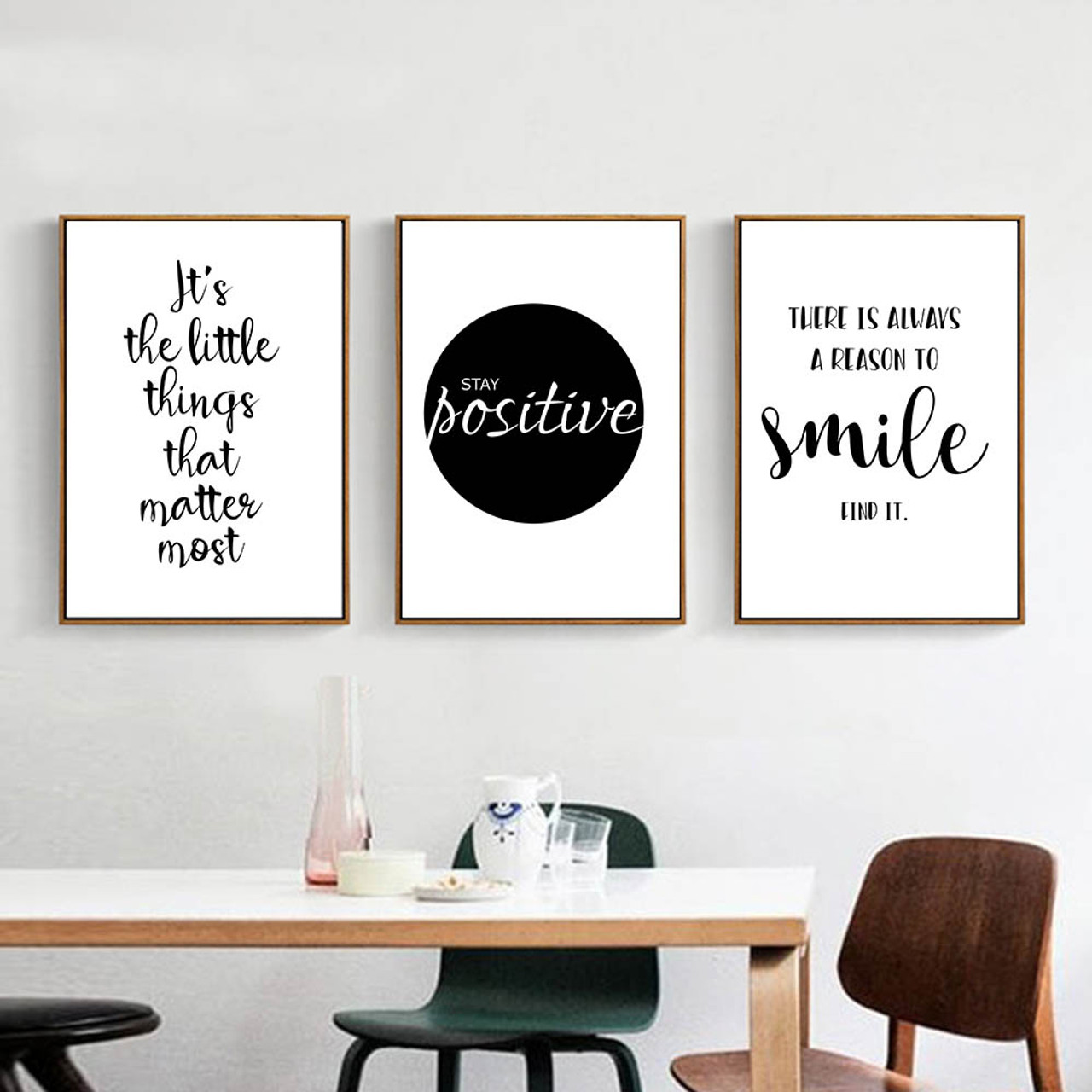 E Positive Inspirational  Life Quote Art Print Home Decor Wall Art Poster