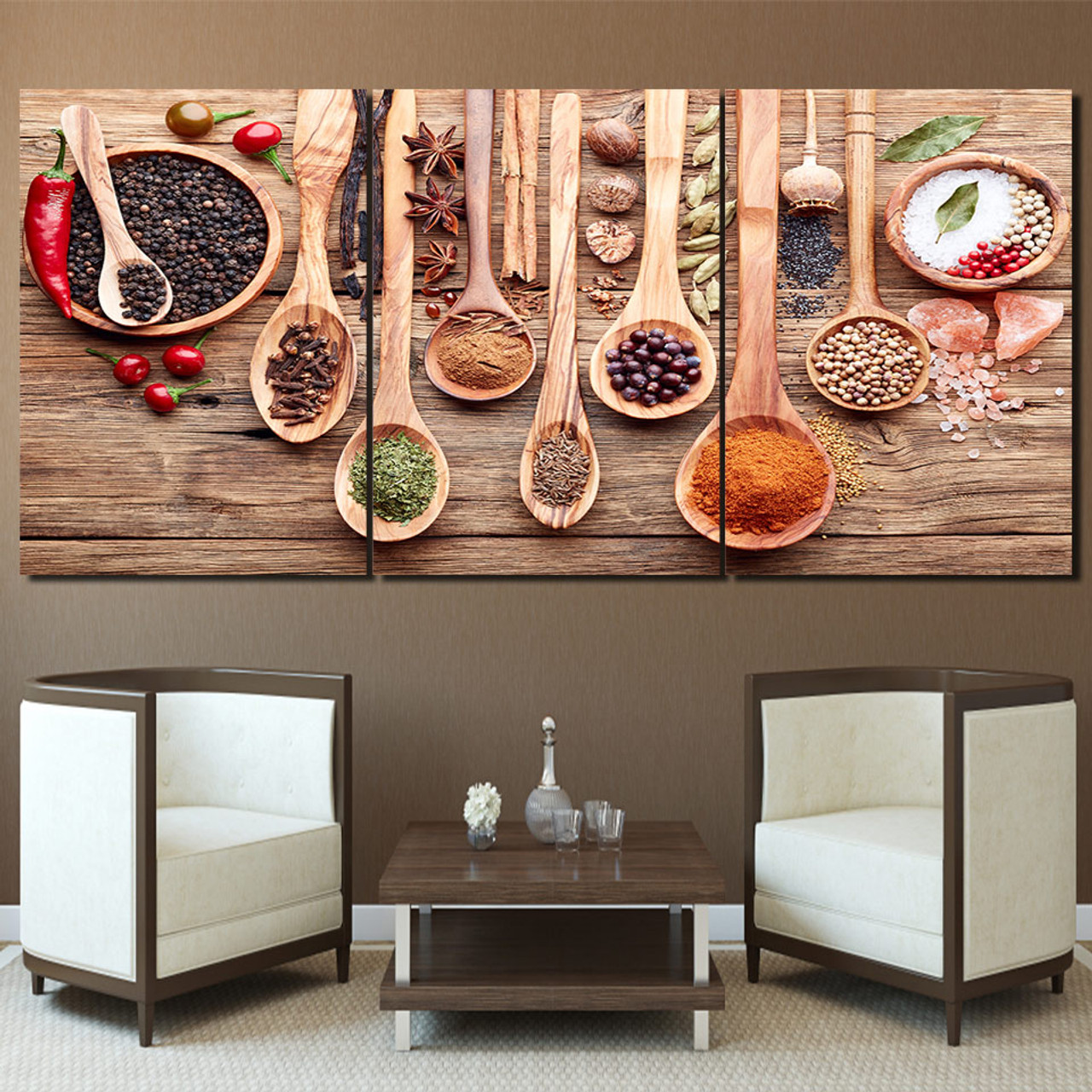 Modern Hd Prints Poster Framework For Living Room Wall Art Food Pictures 3 Piece Spoon Grains Spices Canvas Paintings Home Decor Onshopdeals Com
