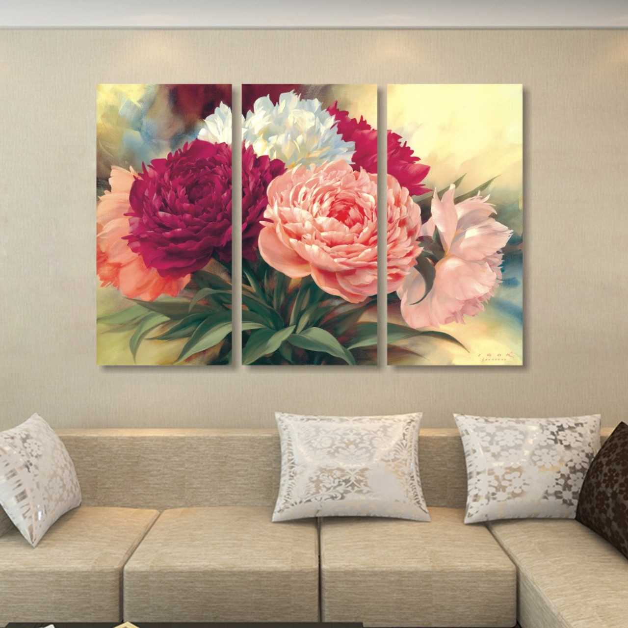 Home Decoration Chinese Peony Flowers Canvas Painting Wall Art Beautiful Flower Picture Professional High Definition Printing Onshopdeals Com
