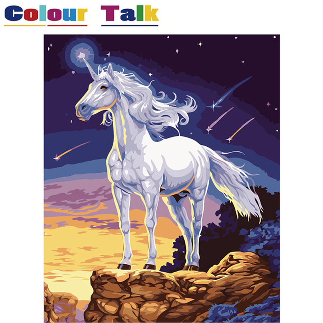 16 Diy Oil Painting By Numbers Horse With Frame Drawing Kits Animals Unicorn Paint On Canvas Painting Calligraphy Art Picture Onshopdeals Com