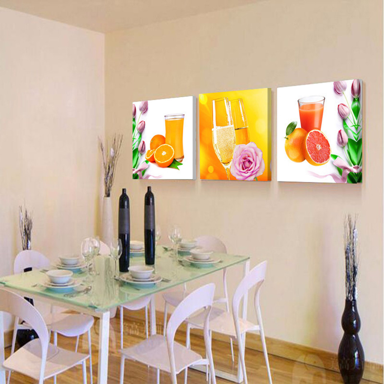 Prints Canvas Painting Dining Room Decorative Picture Canvas Paintings Modern Flower Kitchen Wall Decor Pictures No Frame Hy56 Onshopdeals Com