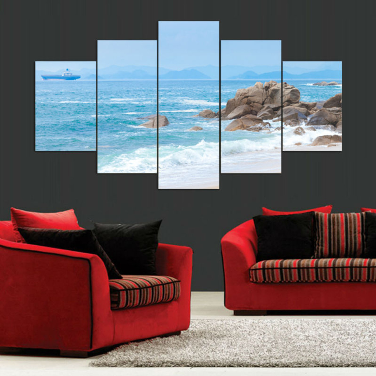 Wall Art Modern Painting Sea Beach Canvas Picture