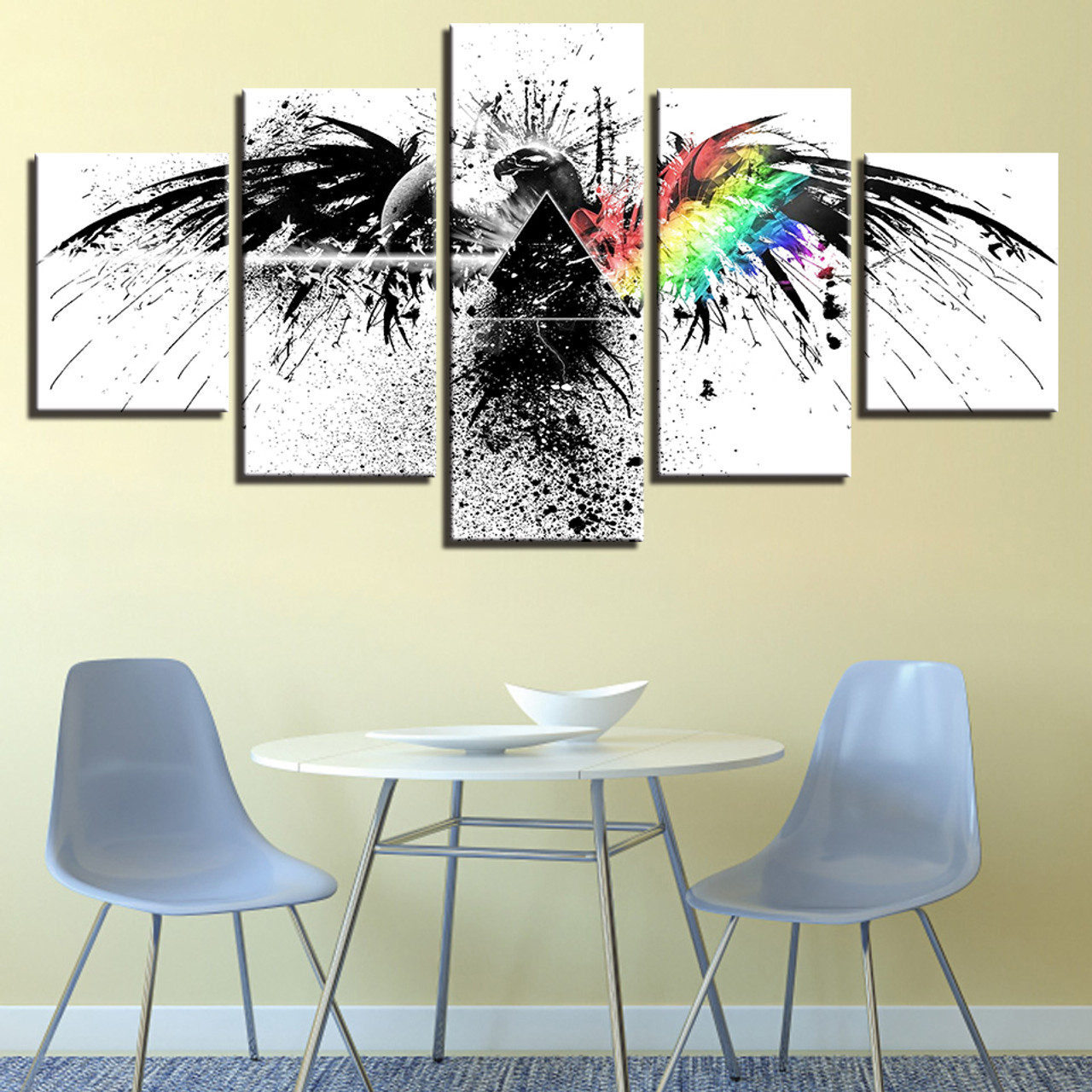 Canvas Pictures Wall Art Home Decor Framework Hd Prints 5 Piece Pink Floyd Rock Music Painting Living Room Abstract Eagle Poster Onshopdeals Com