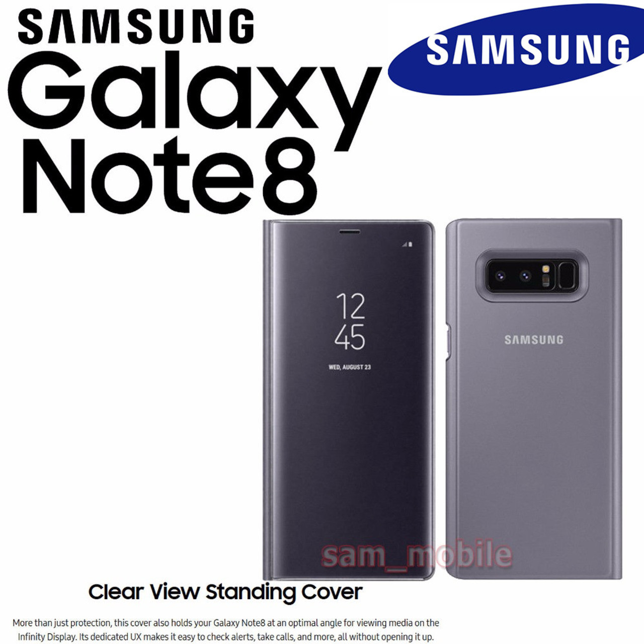 100/% Original Galaxy Note 8 LED View Cover BLACK
