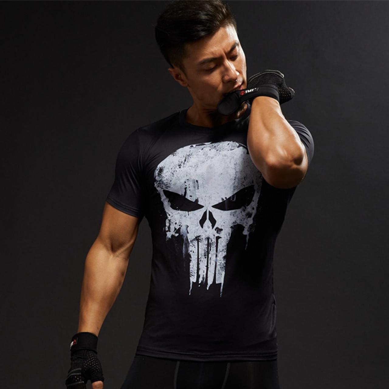 64dacead85e Captain America 3D T Shirt Men T-Shirt Male Crossfit Tops Print Anime  Superhero Superman tshirt Men Fitness Compression Shirts