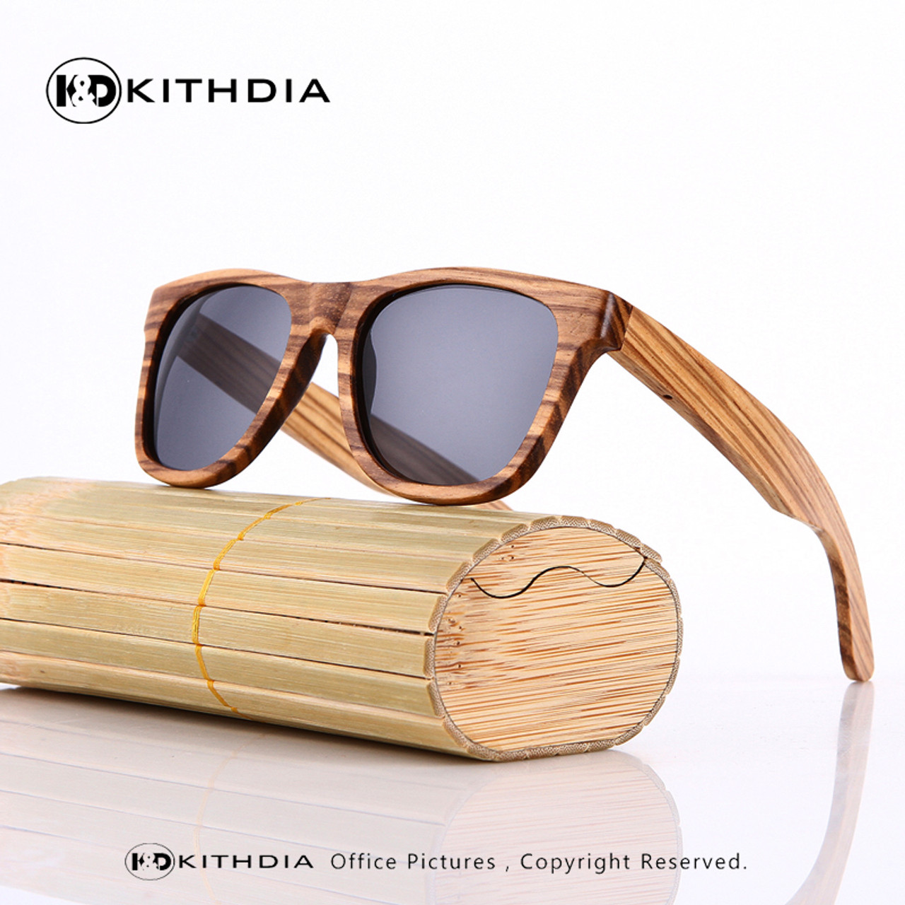 335dadf179e KITHDIA Wooden Sunglasses Polarized Men Bamboo Case Women Brand Designer Vintage  Wood Sun Glasses Oculos de sol masculino - OnshopDeals.Com