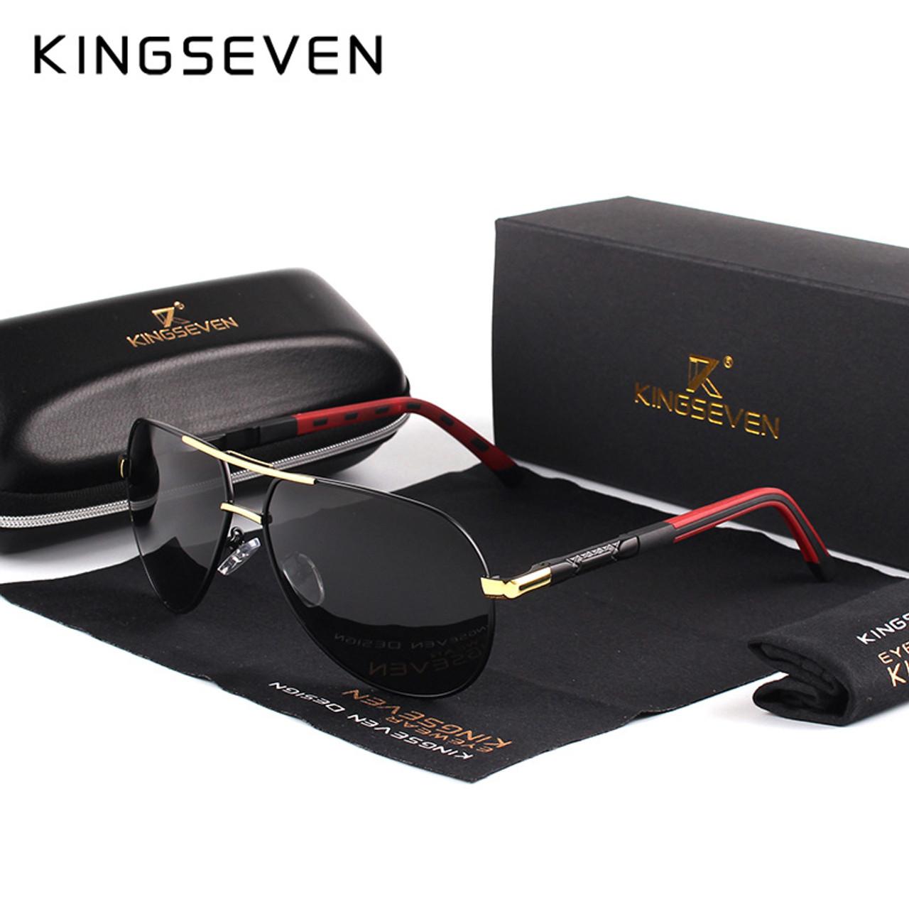 7147186d187 KINGSEVEN Men Vintage Aluminum HD Polarized Sunglasses Classic Brand Sun  glasses Coating Lens Driving Shades For Men Wome - OnshopDeals.Com