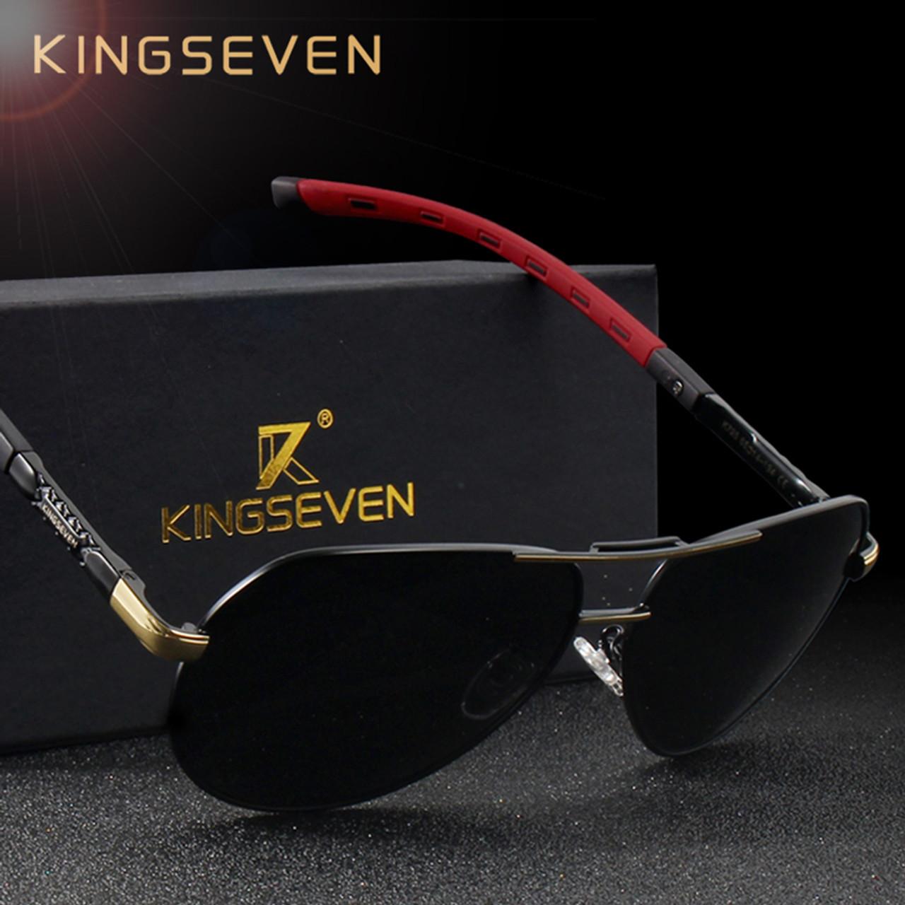 1ee03be3282 ... KINGSEVEN Men Vintage Aluminum HD Polarized Sunglasses Classic Brand  Sun glasses Coating Lens Driving Shades For ...