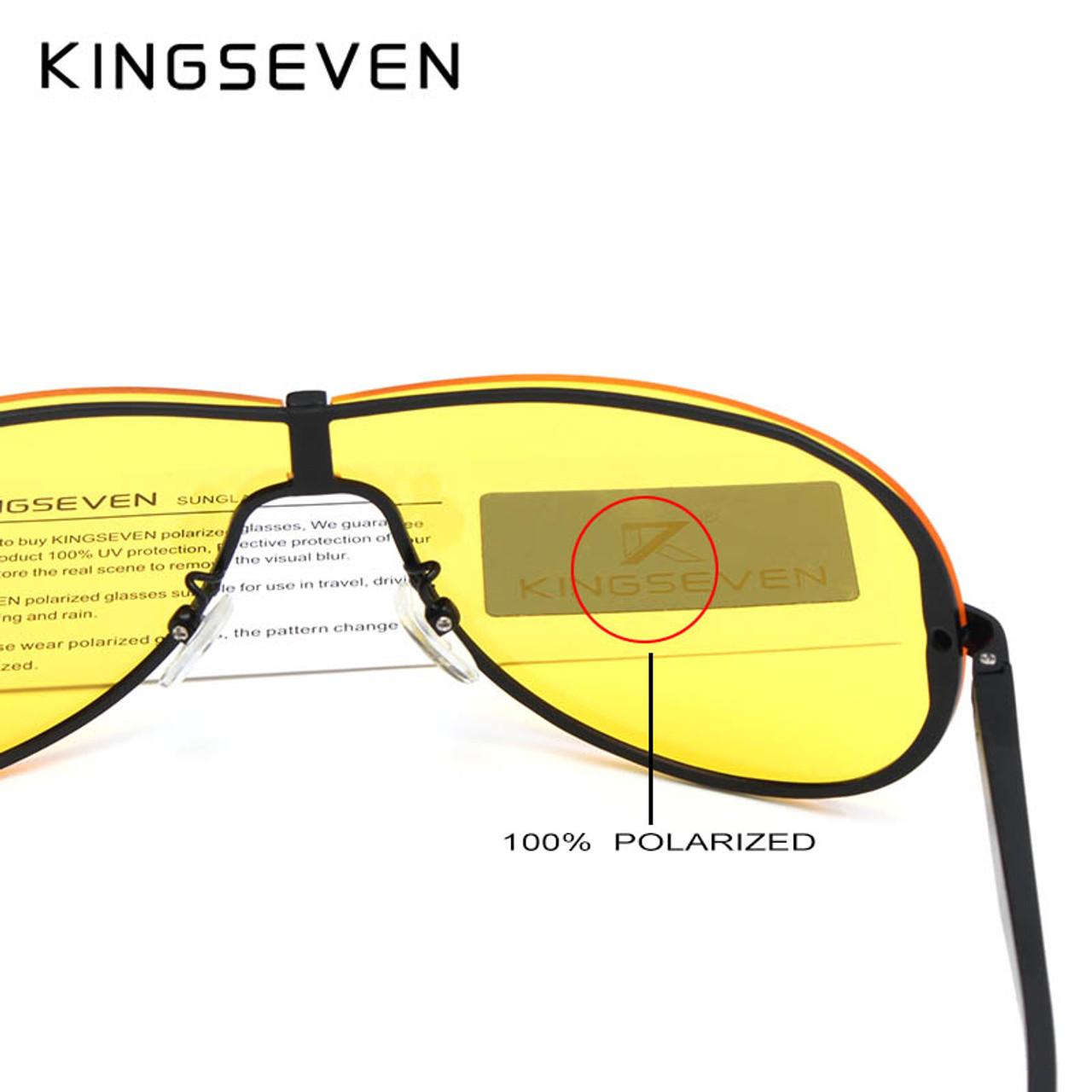 db8214fb92 ... KINGSEVEN Aluminum Polarized Driving Sunglasses for Men glasses Brand  Designer with High Quality Big frame rimless ...