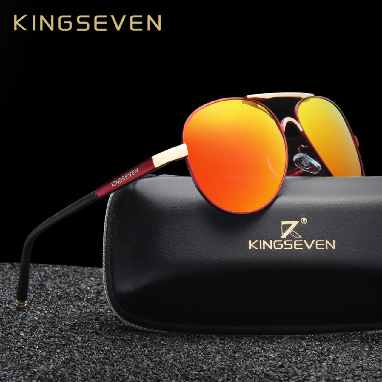 5b80bf7a50 KINGSEVEN Brand New Unisex Aluminum Polarized Sunglasses Women Men Design  Travel Driving Sun Glasses Classic Male Eyewear Gafas - OnshopDeals.Com