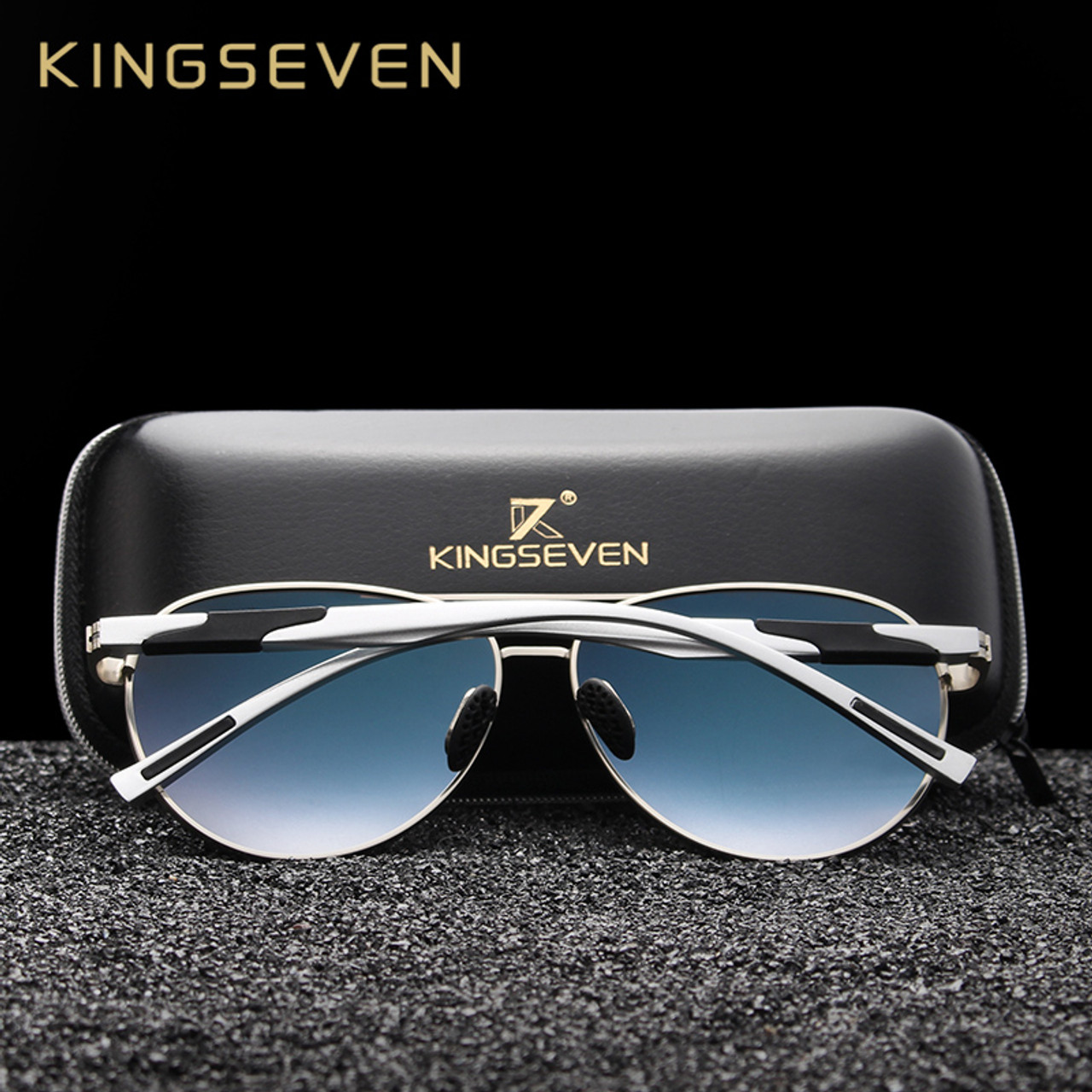 727034ba1cb ... KINGSEVEN DESIGN Men Classic Polarized Sunglasses Aluminum Pilot Sun glasses  UV400 Protection NF-7228 ...