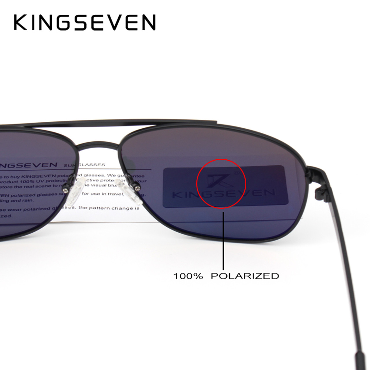 f4d30e3843f ... KINGSEVEN Brand Fashion Design Sunglasses Men Polarized UV400 Eyes  Protect Sports Sunglasses ...