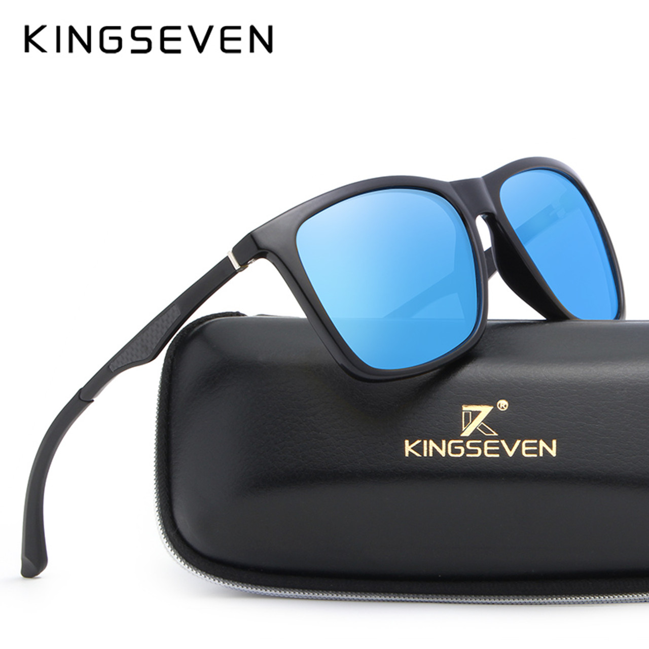 a5dfe8c6401 KINGSEVEN Aluminum Magnesium Men s Sunglasses Polarized Men Coating Mirror  Glasses oculos Male Eyewear Accessories For Men ...