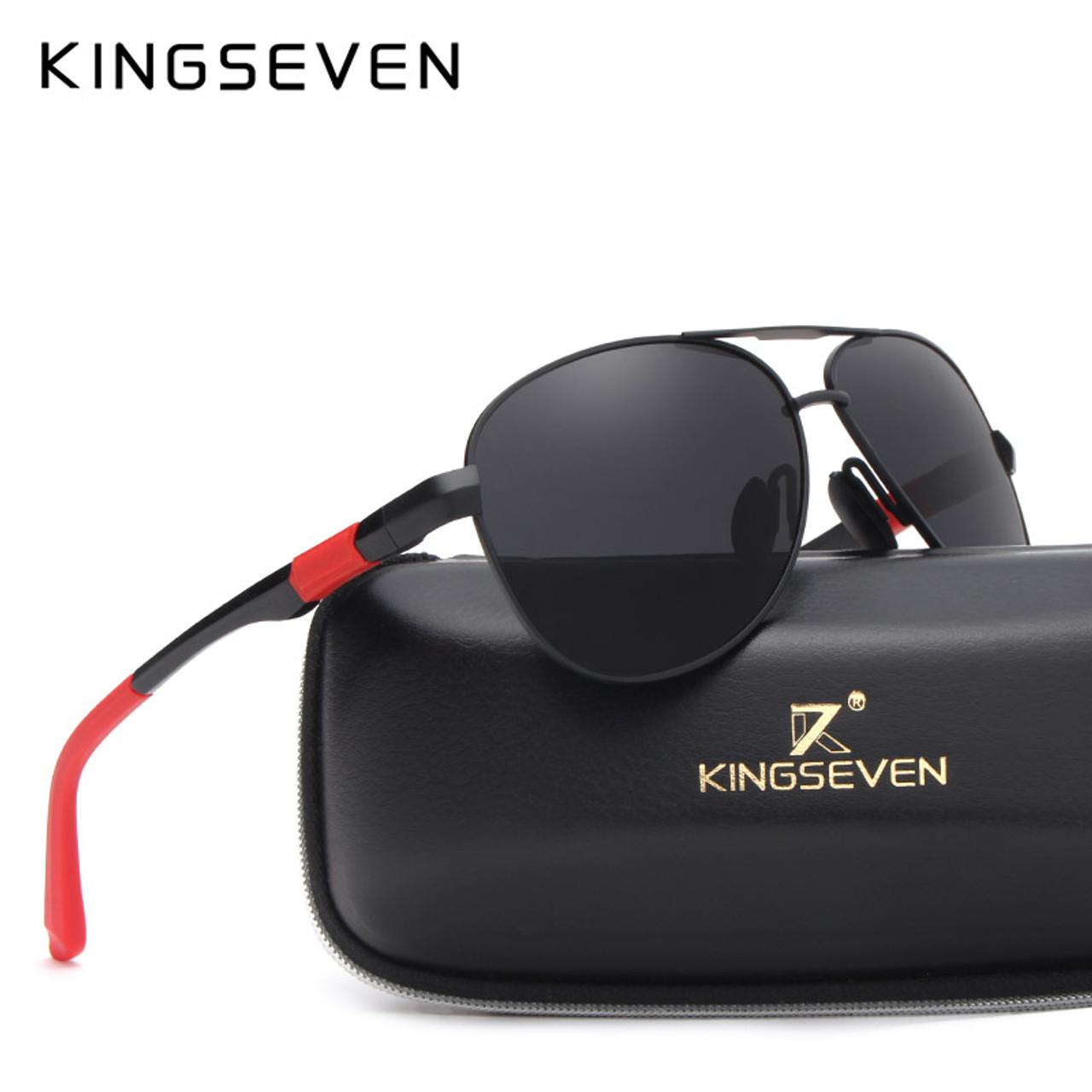 cb3a59e0c63f2 KINGSEVEN Metal Polarized Sunglasses Driving Men Women Brand Designer  Glasses Fashion Eyewear 100% UV Protection ...
