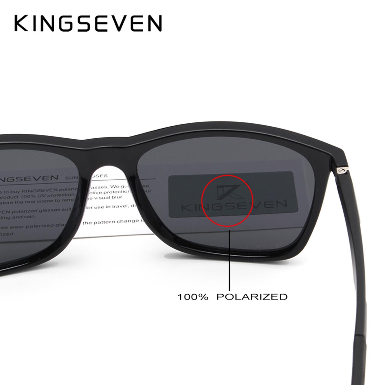 a5d3886b2190 ... KINGSEVEN DESIGN Men Polarized Square Sunglasses Fashion Male Eyewear  Aviation Aluminum Legs 100% UV Protection ...