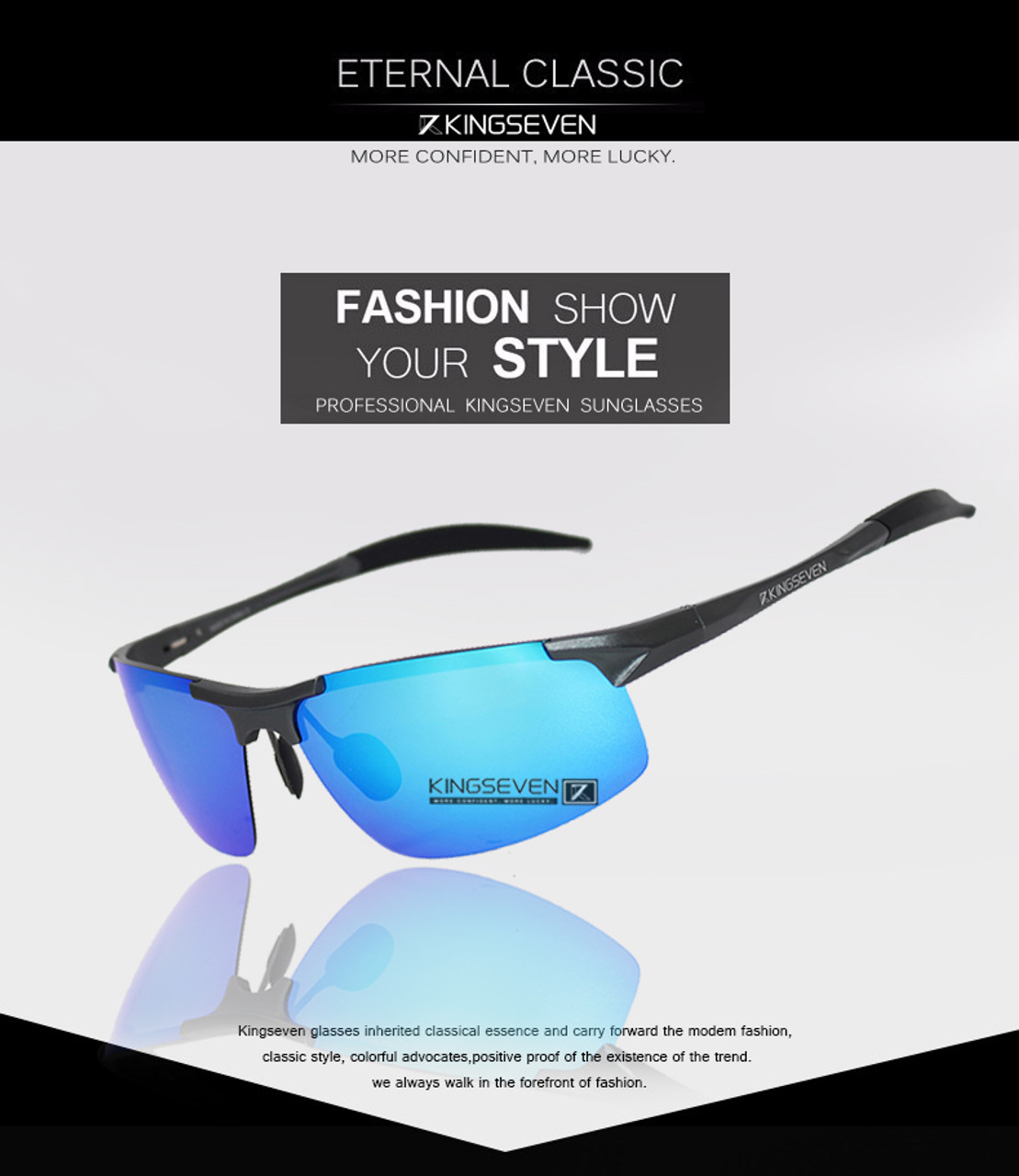 13bf93dd27 ... Kingseven Brand Men Glasses Polarized Coating Sunglasses Men Sun Glasses  Women Goggles Night Vision Driving Sunglass ...