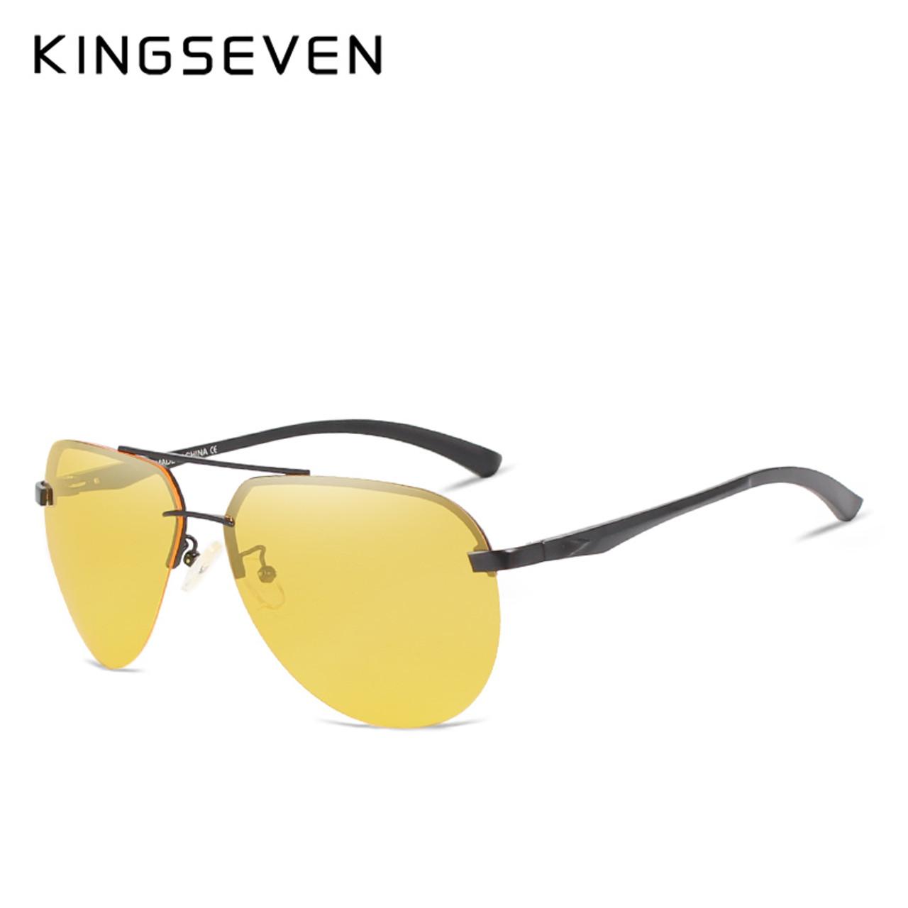 cae4a961011 ... KINGSEVEN Polarized Night vision Sunglasses Mens Original Box Goggles  Women Designer Leisure Glasses Oculos de sol ...