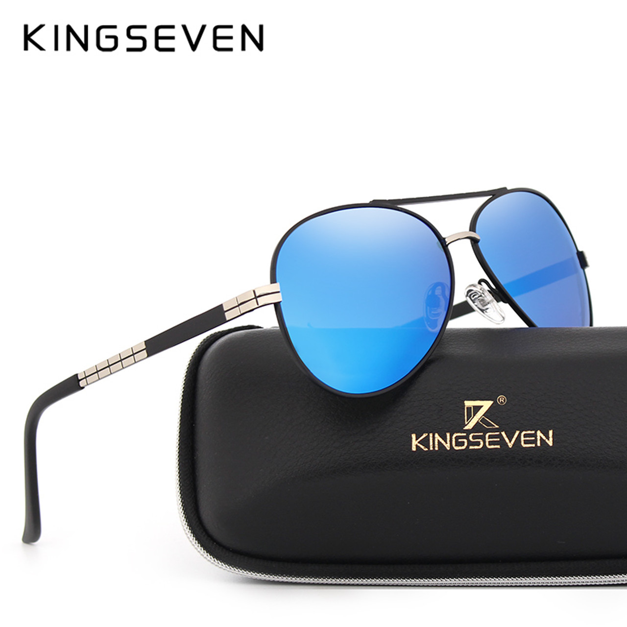 20cde843f5f KINGSEVEN Fashion Classic Brand Sunglasses Men s HD Polarized Aluminum  Driving Luxury Design Sun glasses For men ...