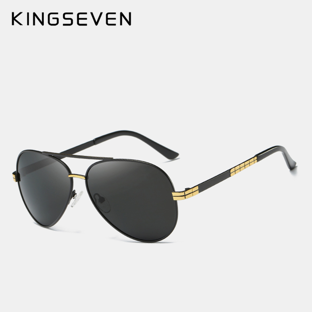 97cb9f3b871 ... KINGSEVEN Fashion Classic Brand Sunglasses Men s HD Polarized Aluminum  Driving Luxury Design Sun glasses For men ...