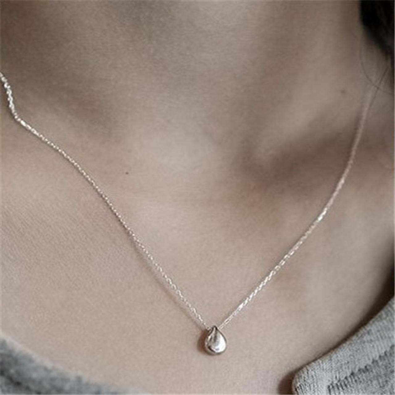 Jsping 925 Sterling Silver Necklace Amp Pendants Simple Design