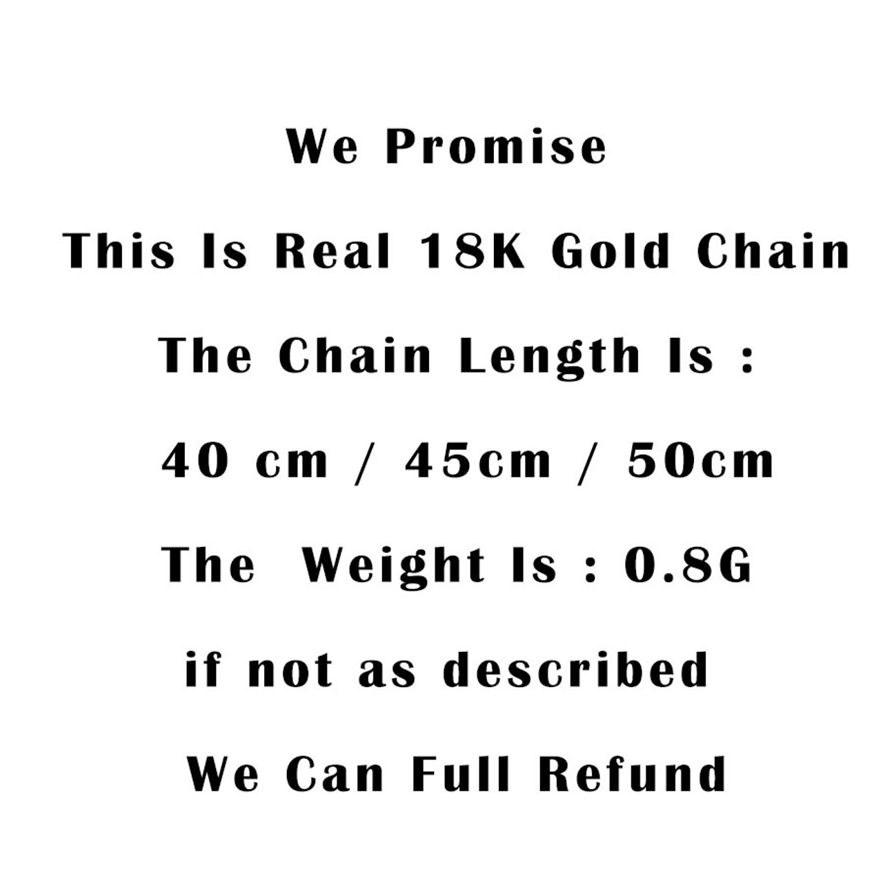 Real Pure Gold Chain For Women High Quality Fashion 18K Gold Necklace  Elegant Genuine Yellow Gold Jewelry 40/45/50cm 0 8g Lindo