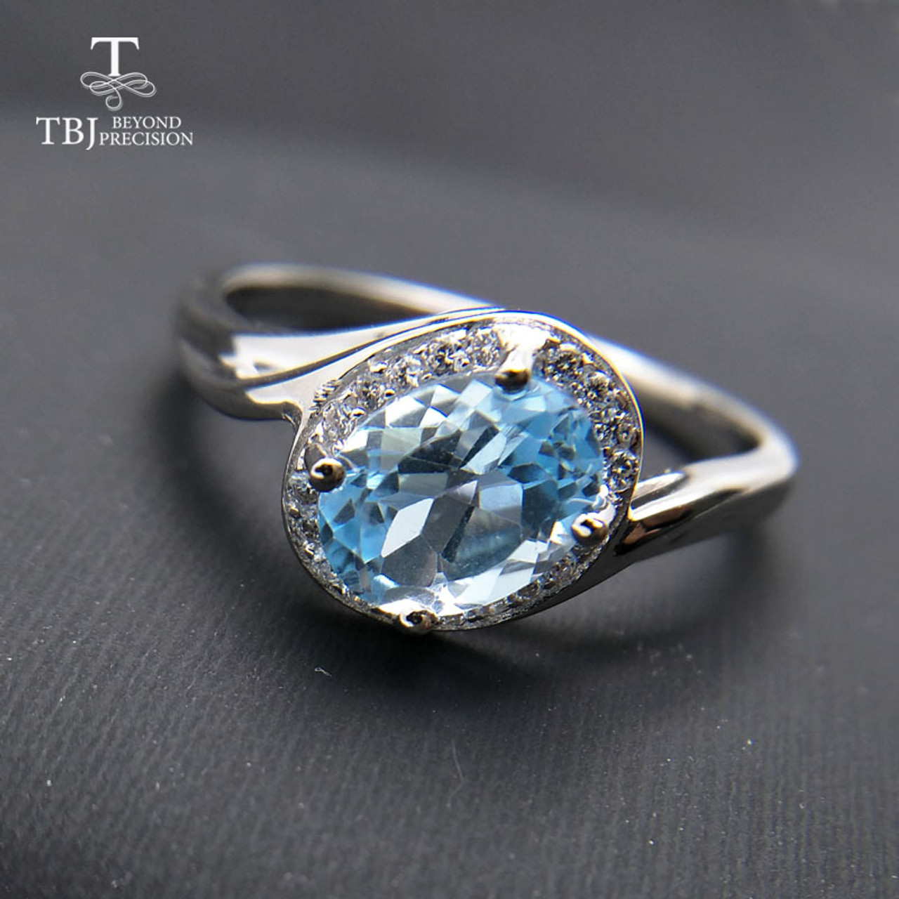 Natural Topaz Gem 2ct Crystal Solid 925 Sterling Silver Engagement for Women