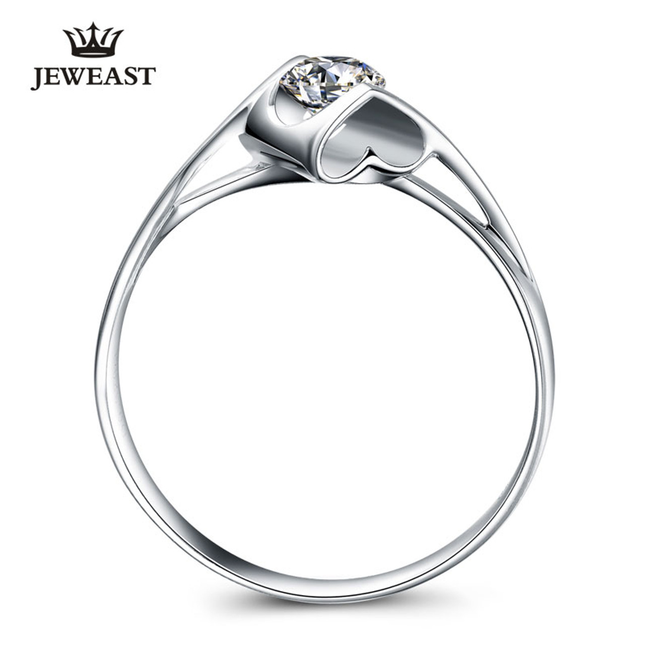 3851bce44d ... Natural diamond Ring 18k Gold Women Lover Couple Anniversary Romantic  Propose Engaged Wedding Party South African ...
