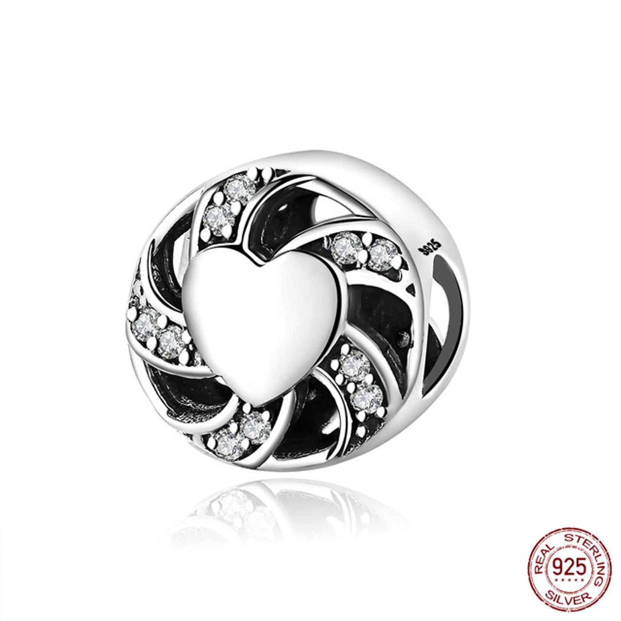 e81f83548 ... 12 Style Authentic 925 Sterling Silver Heart Shape Beads Charm Fit  pandora Charm Bracelet DIY Original ...