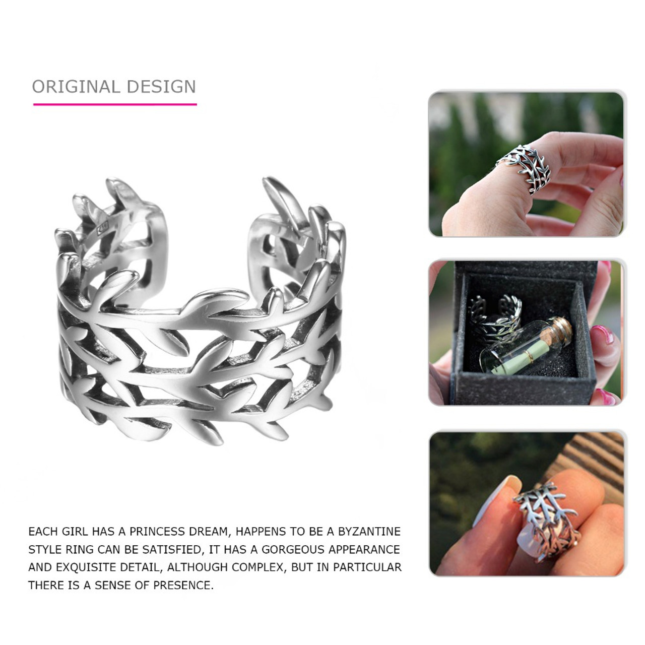 Tardoo 2017 New Collection Authentic Sparkling Leaves Silver Ring Laurel  Wreath Laurel 100% Fine 925 Sterling Silver Jewelry