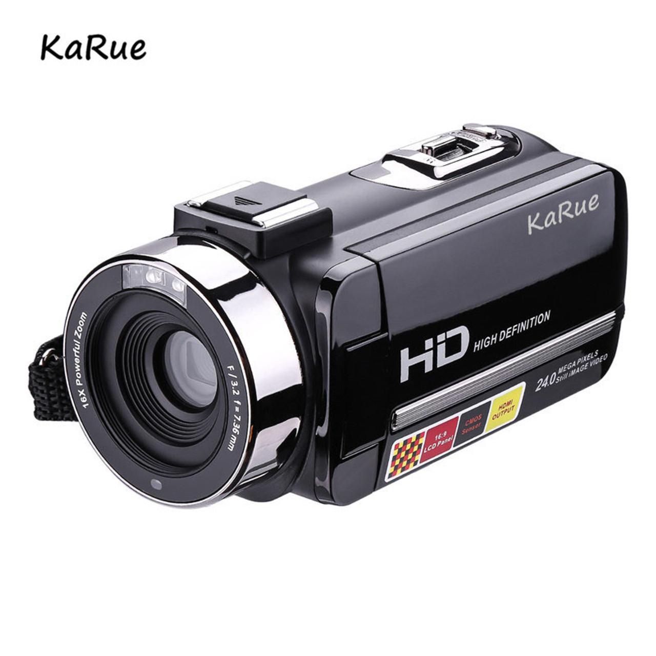KaRue Digital Photo Camera with Mic and Remote HD Digital Video Camera  Camcorder 16x Digital Zoom DV 3 0