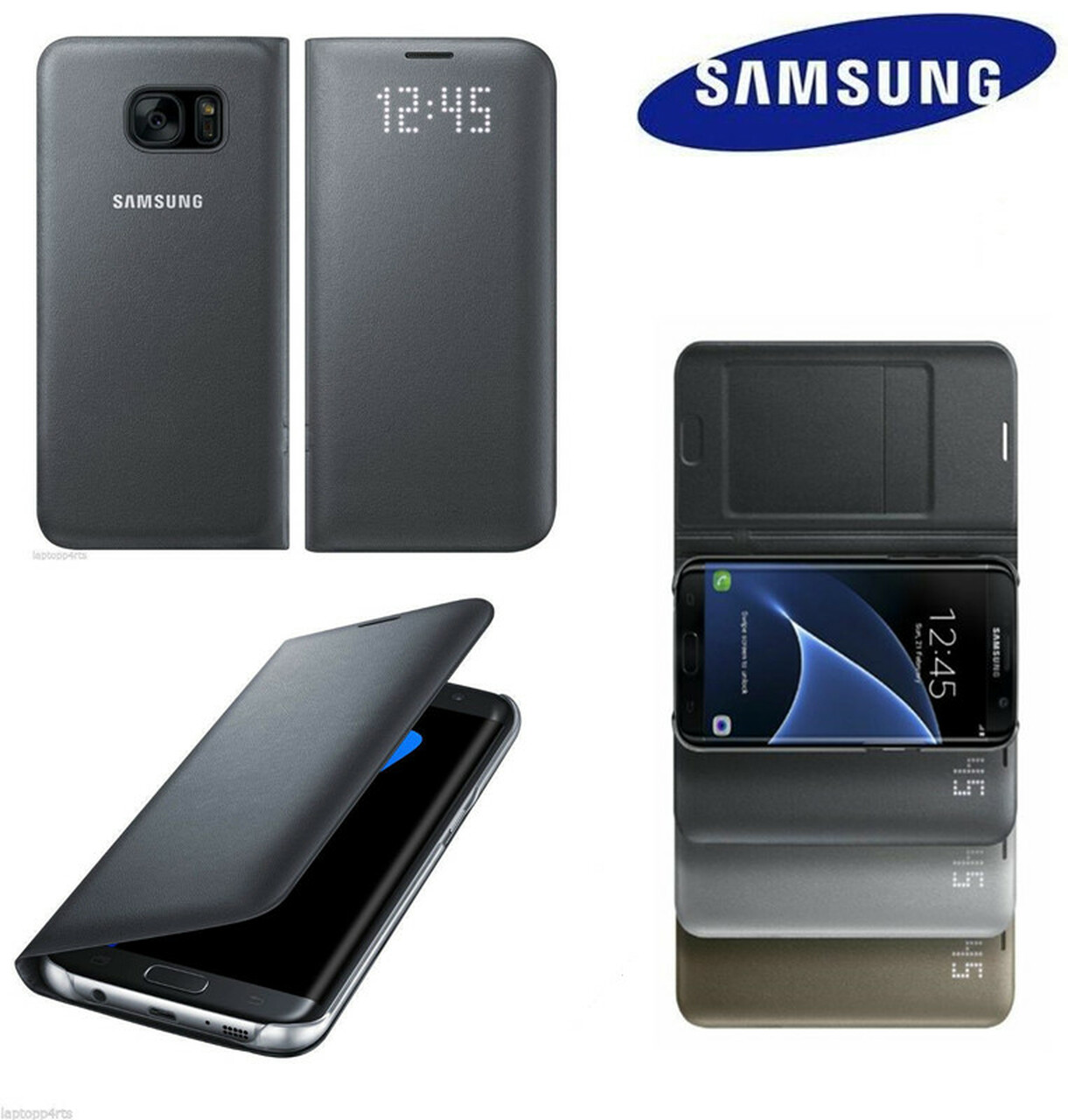 sports shoes a86bc bf0e9 100% Original Samsung Galaxy S8 S8 + S8 Plus g9550 9500 LED Flip Cover Case  EF-NG950 With Card Pocket Cover