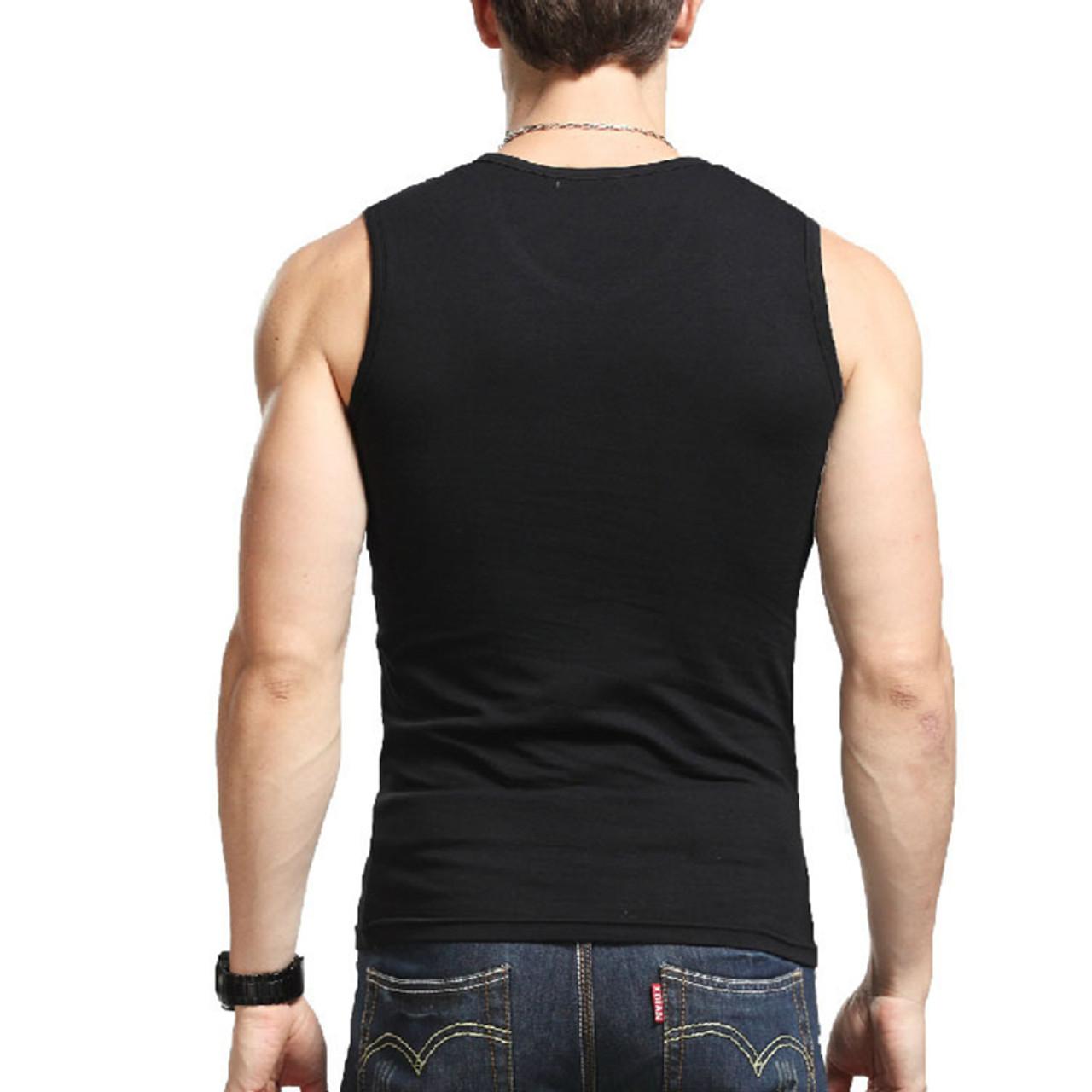 97b525f2062b0 ... 2018 Cotton Big Size Summer men clothing Tank Tops Black White Gray  Singlets Sleeveless fitness men ...