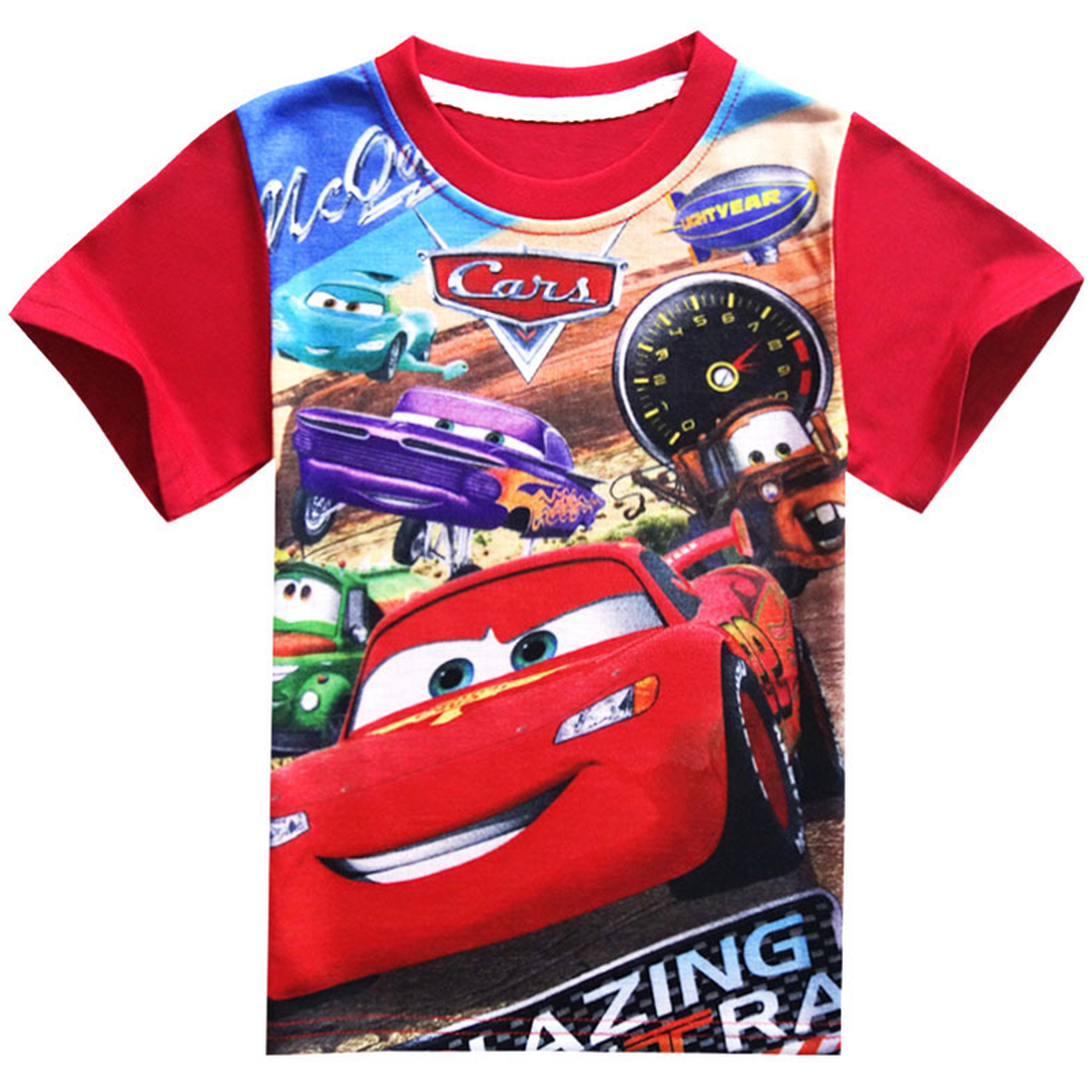 3ddcaa9c ... Chidlren Clothes Car Print T Shirt Boys Short Sleeve T-shirt Kids Boys  Girls Clothing ...