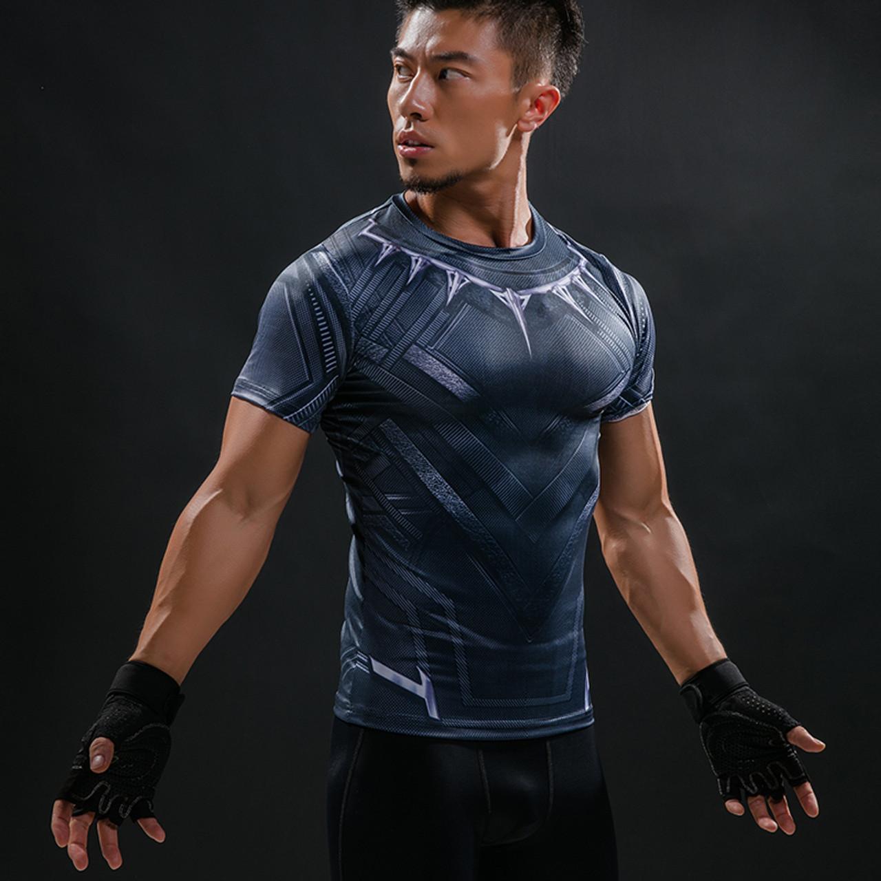 b61ad7663d7c ... Black Panther 3D Printed T-Shirt Men Compression Fashion Men T Shirt  Marvel Avengers Cosplay ...