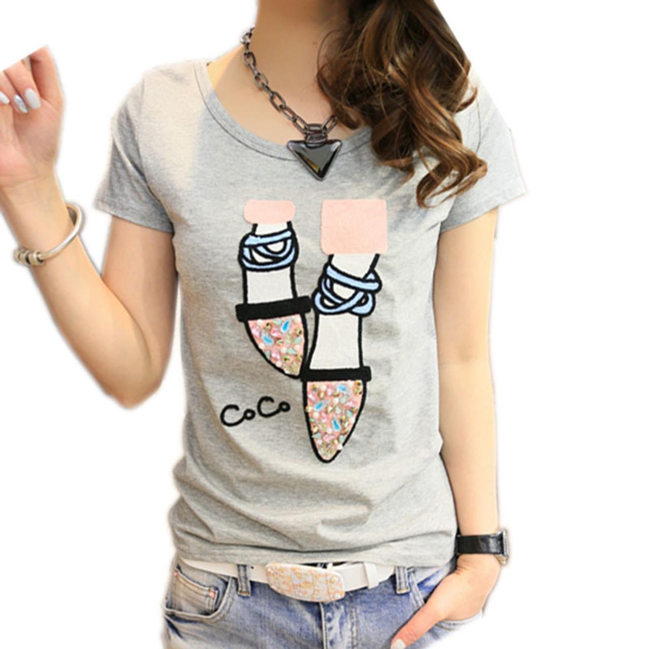 c23144e77e2 BOBOKATEER T shirt women t-shirt cotton top tee shirt femme kawaii tshirt  women tops summer t-shirts camisetas mujer verano 2018 - OnshopDeals.Com