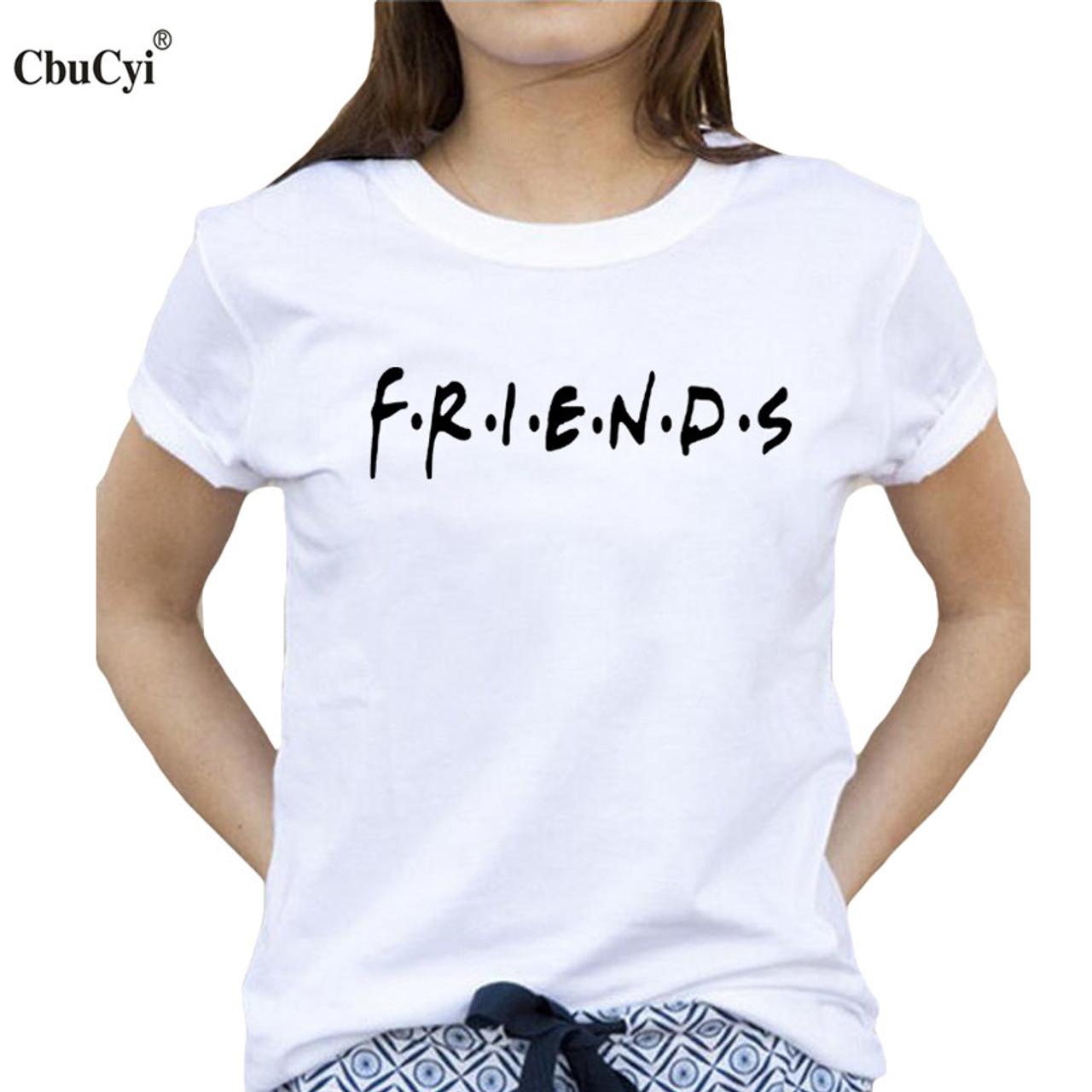 47cc75d5f8c Best Friends T-shirt Women's Summer Fashion Bff Tshirt Black White Cotton  Tops Tee 2017 ...