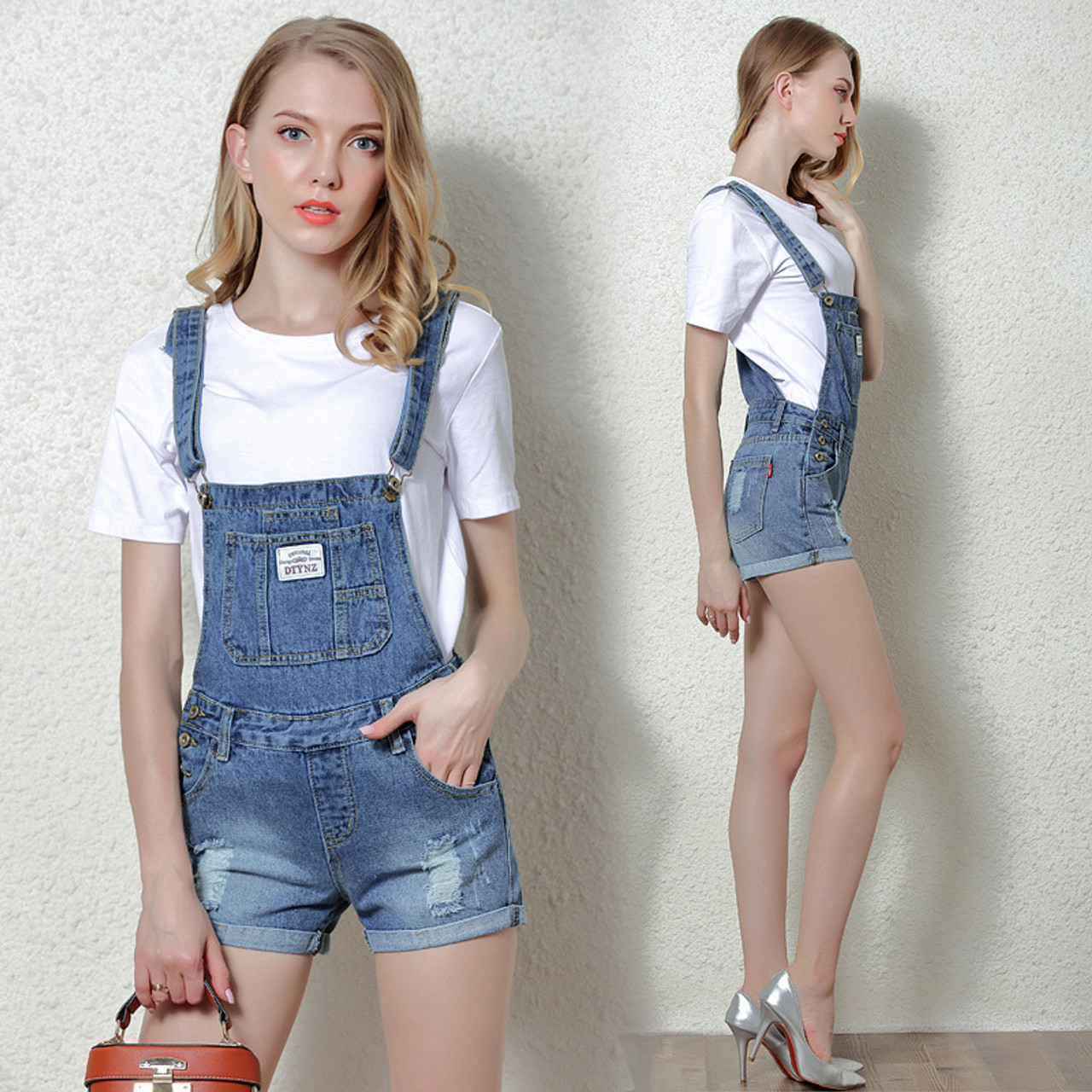 22ce78af5579 ... Rlyaeiz Rompers Womens Jumpsuit Body Feminino Suspender Jeans Jumpsuits  Women Overalls 2018 Summer New Hole Denim ...