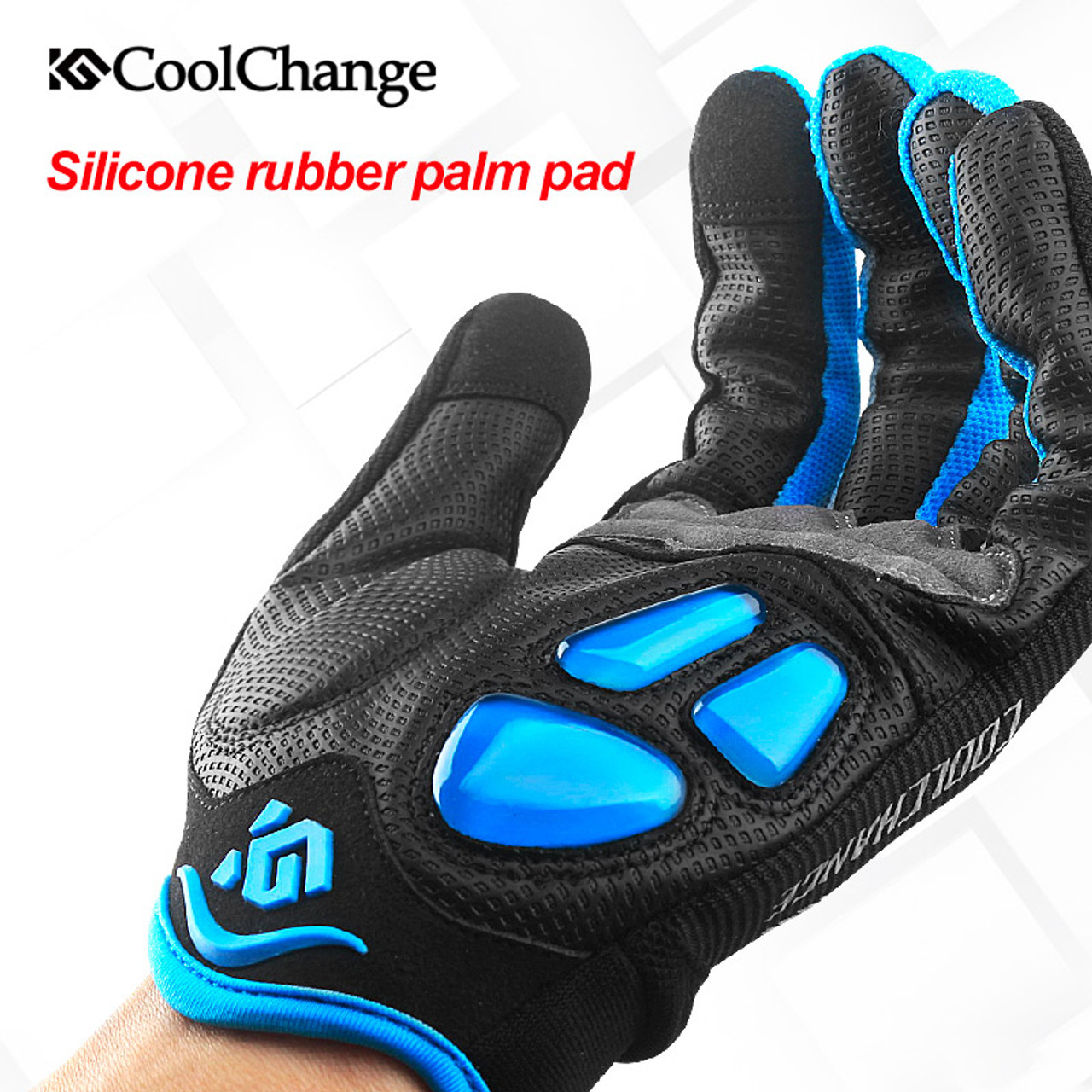 Touch Screen Full Finger Gloves Mens Bicycle Cycling Sporting Outdoors Motobike