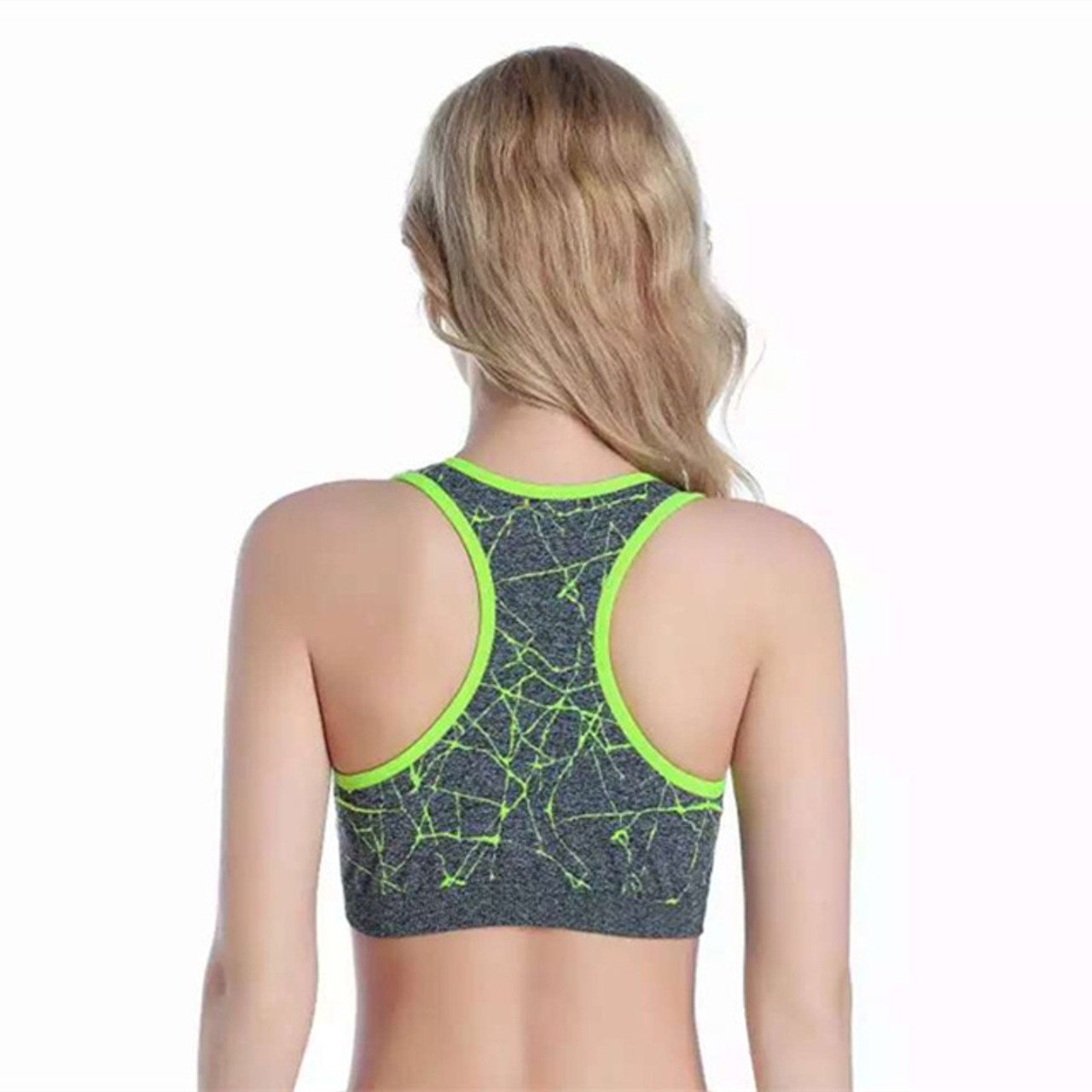 830f12cc23 ... MAIJION New Women Shockproof Sports Bra