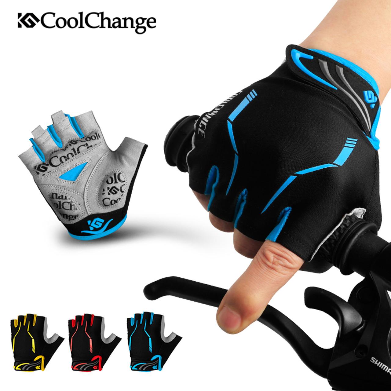 Cycling Short Finger Gloves Anti-Slip Shockproof Breathable Bike Sports Gloves